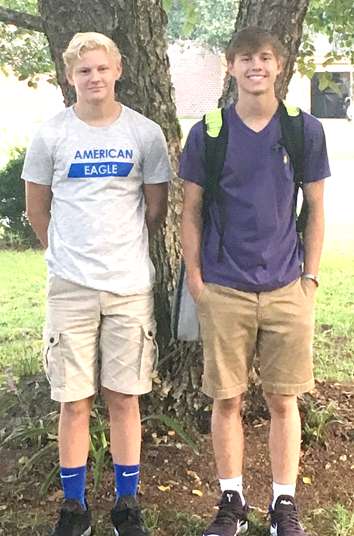 Tyler Sears, left, eighth grade, Frink Middle School; Trevor Sears, sophomore, North Lenoir High school