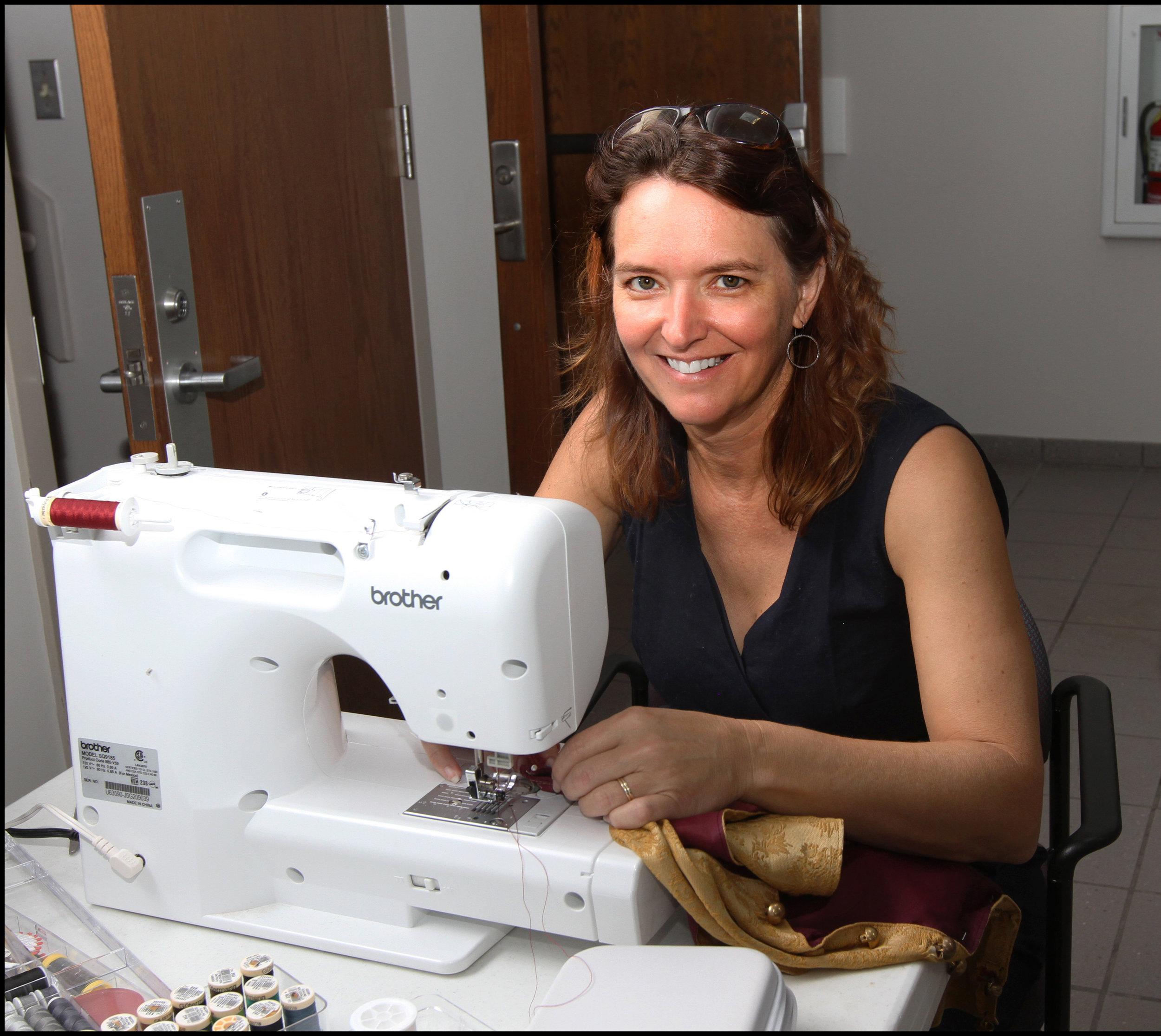 Renee Herlong, Wardrobe Mistress, has spent countless hours volunteering to mend and alter numerous costumes.