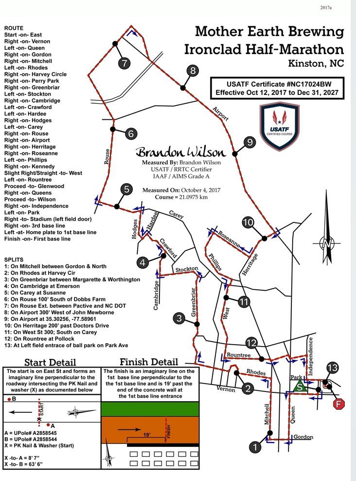 13.1 course map
