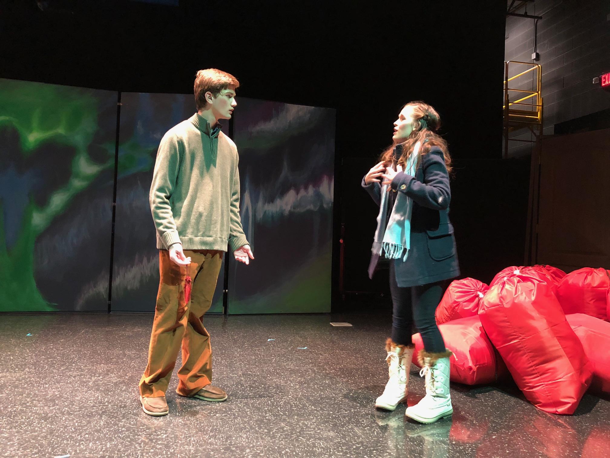 Ridge Lewis and Rachel Alexander-Lee in a confrontation scene.