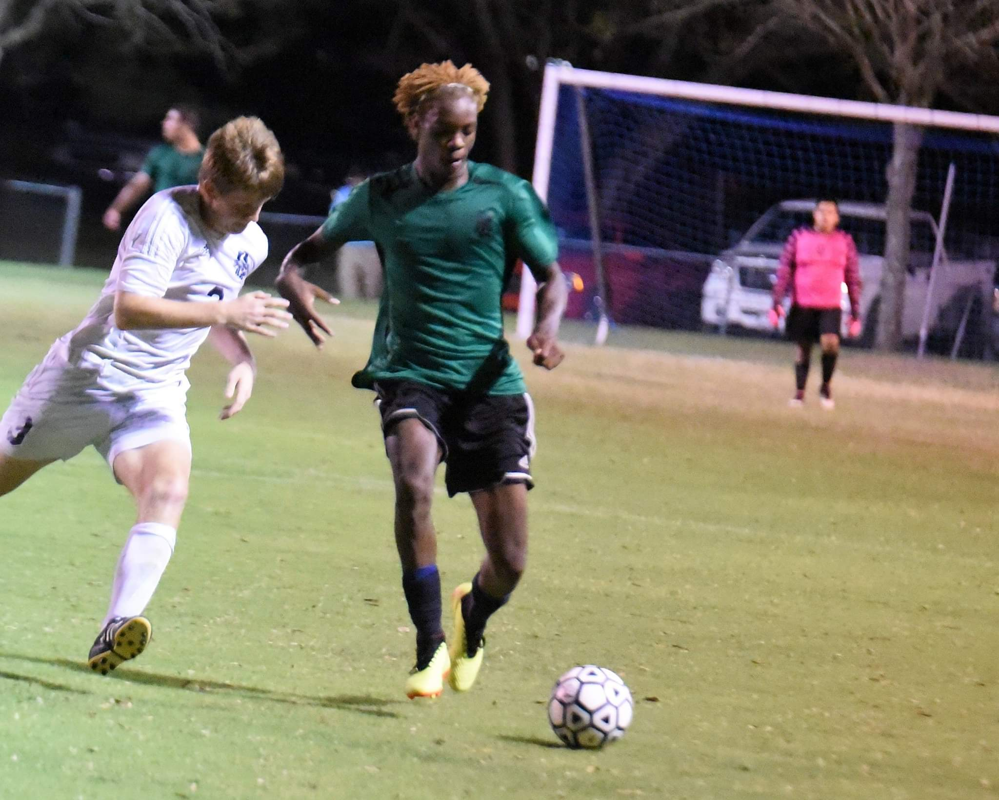 """North Lenoir's Taiwan Hines was the Neuse News Player of the Year in soccer, and three other Hawks made the list. Photo by William """"Bud"""" Hardy / Neuse News"""