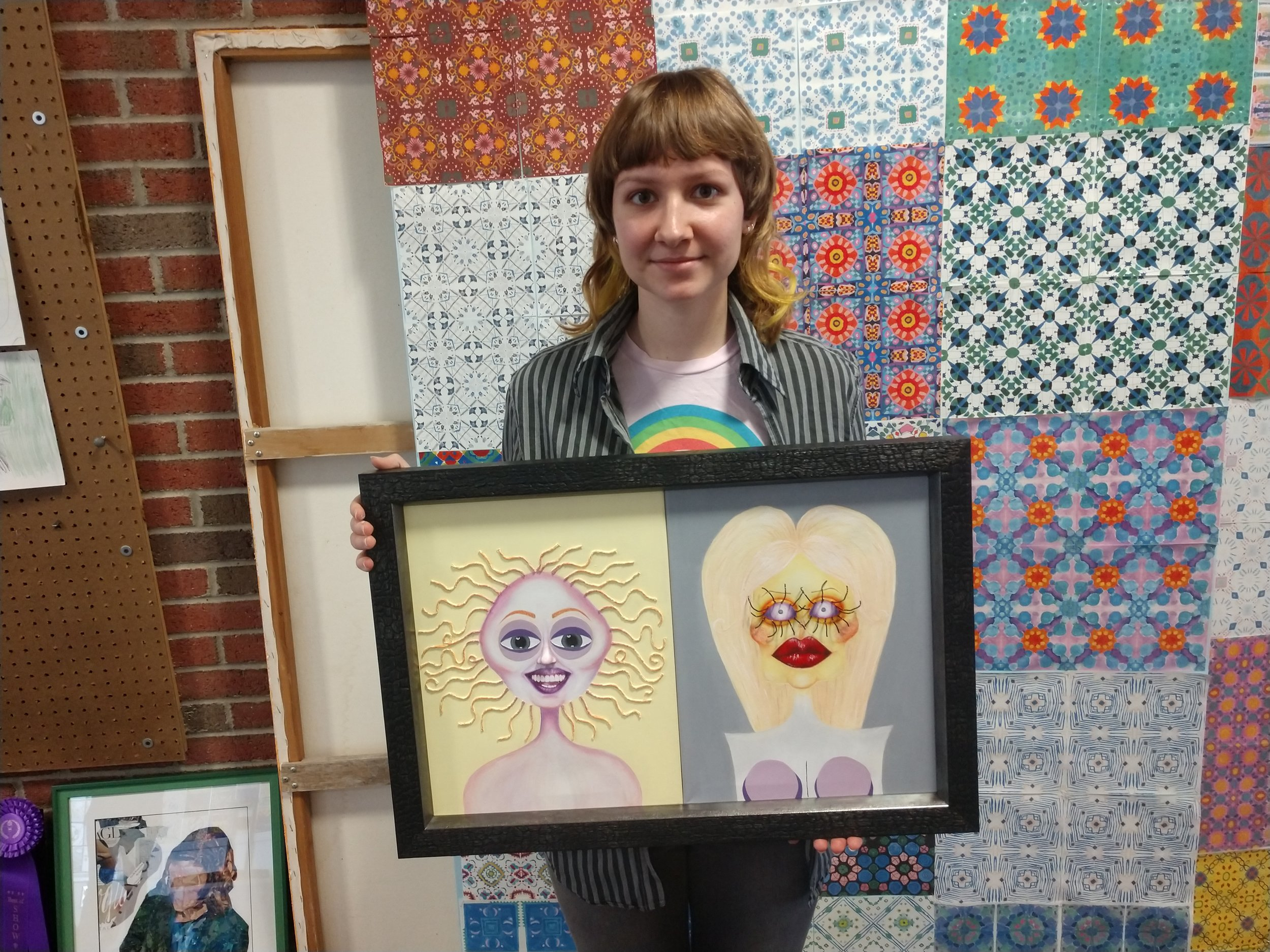 Arendell Parrott Academy's Nastia Hnatov participated in the mixed media portion of the NCASA Scholastic Art Showcase at Northwest Guilford in Greensboro on Saturday. Overall, the team finished first. Photo by Junious Smith III / Neuse News