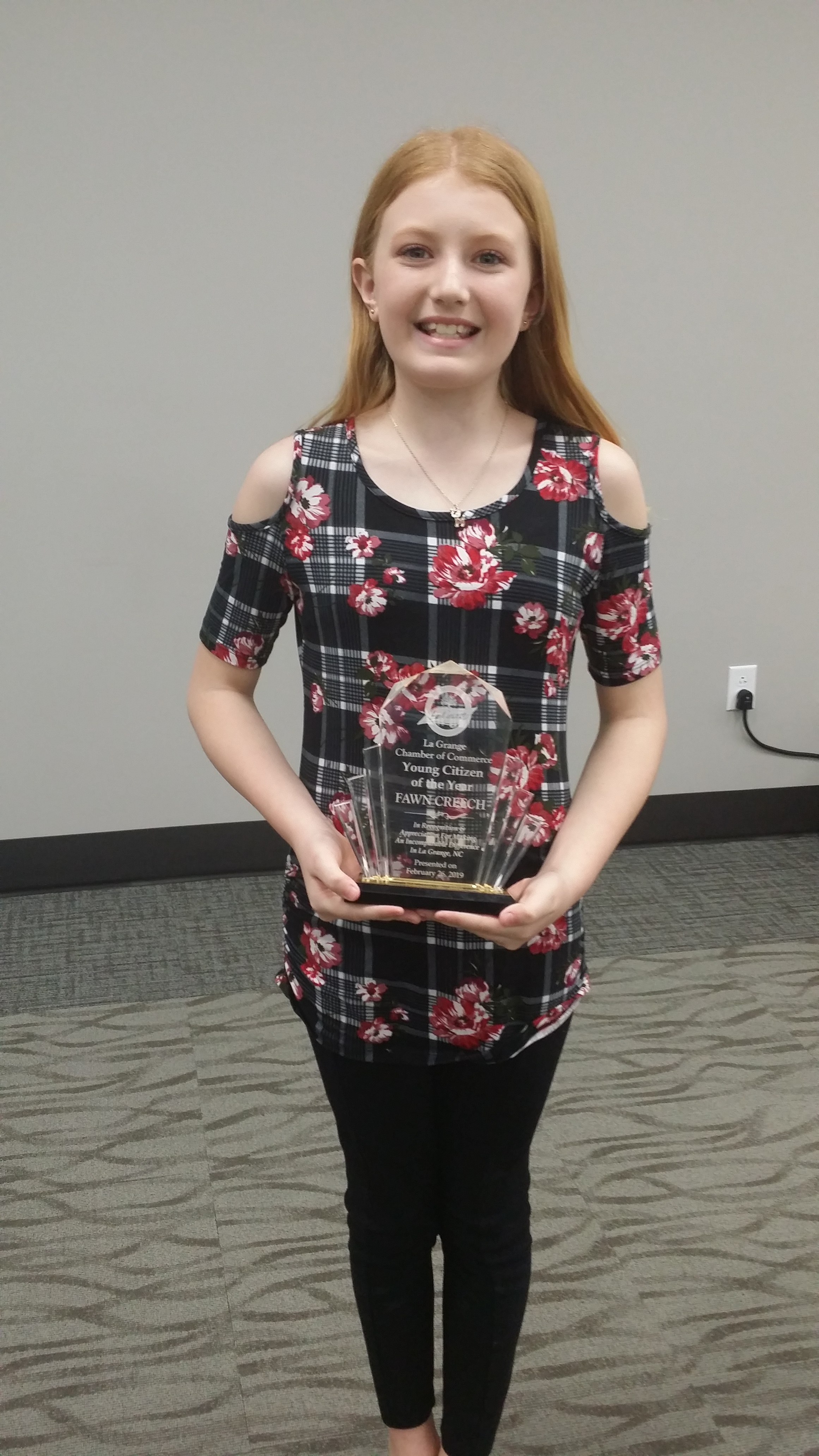 La Grange Chamber of Commerce Young Person of the Year 2018 Fawn Creech
