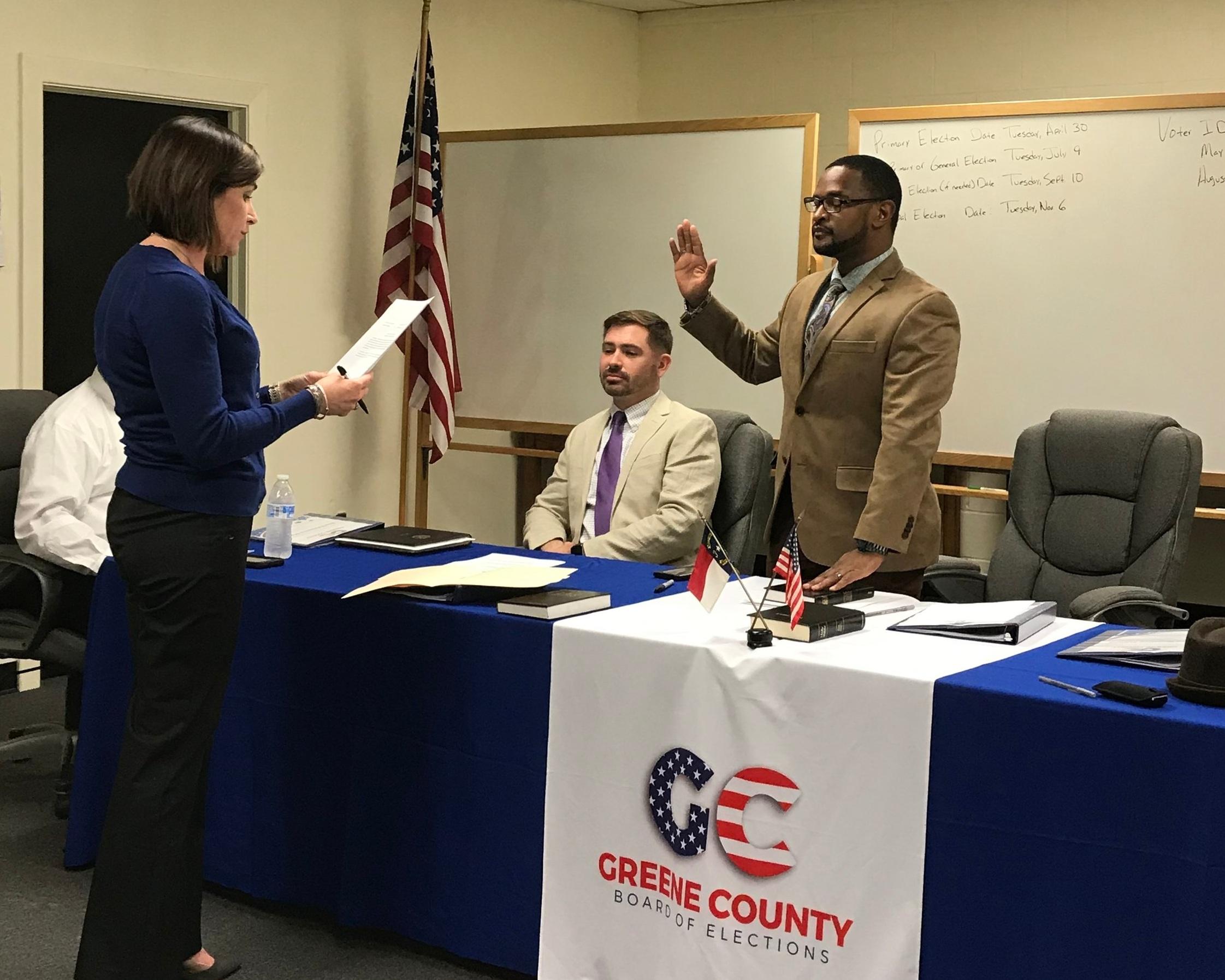New Greene County Board of Elections Chairman Louis Joyner. Photo by Kristy Bock / Neuse News
