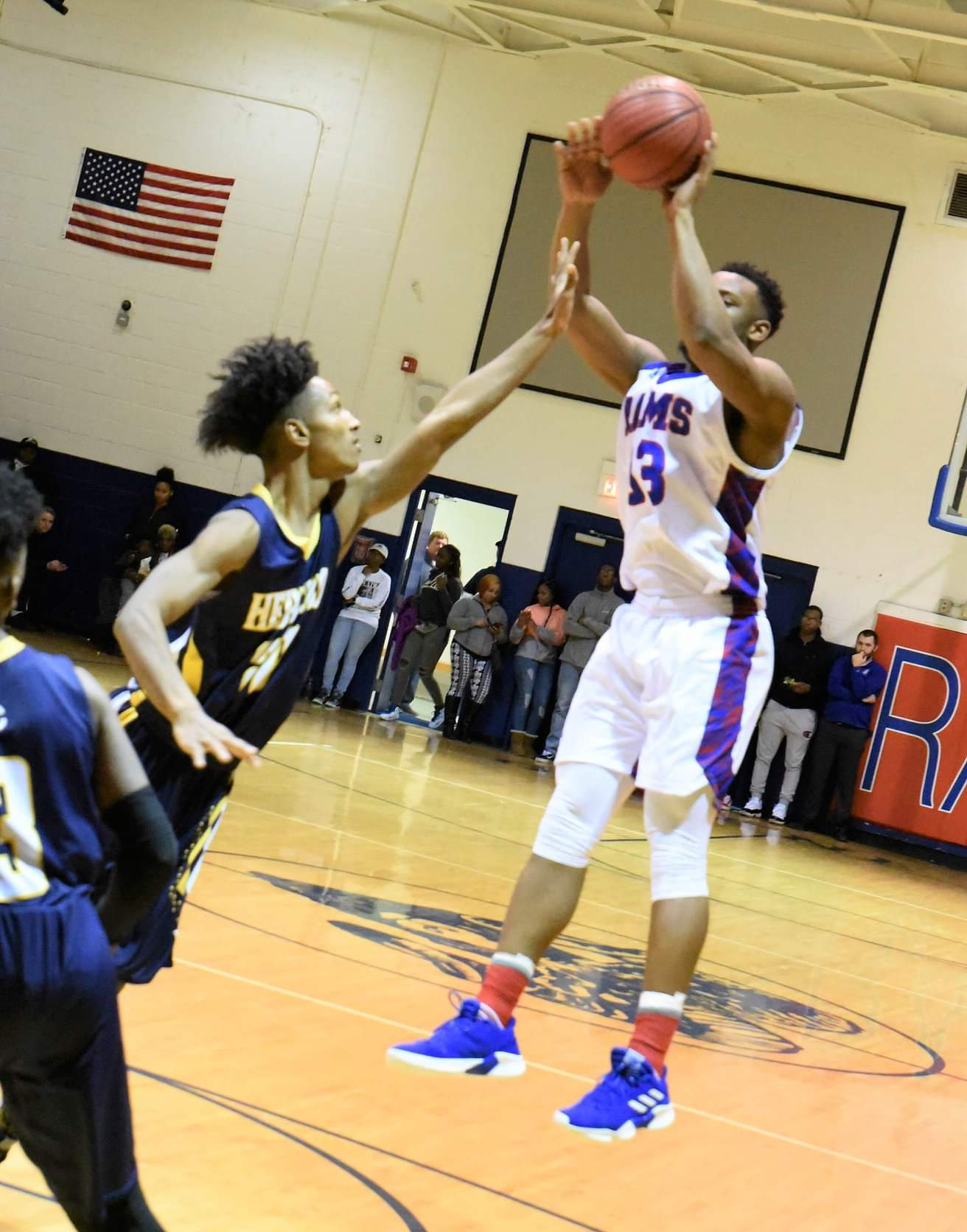 Greene Central's Donte Johnson puts up a shot against Hertford County in Thursday's fourth-round matchup. Photo by William 'Bud' Hardy