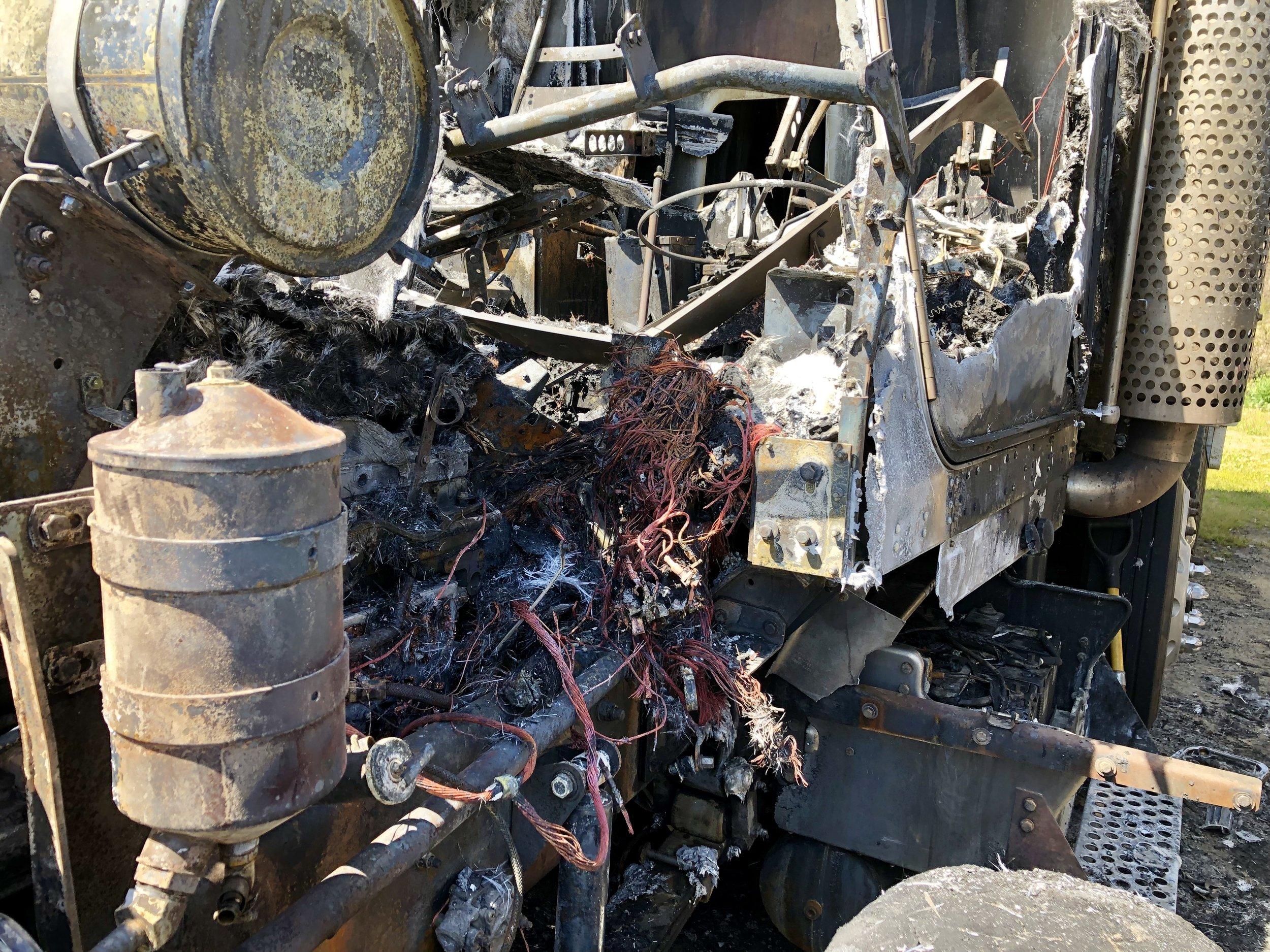 Dump Trucks Catch Fire At Local Business Friday Neuse News