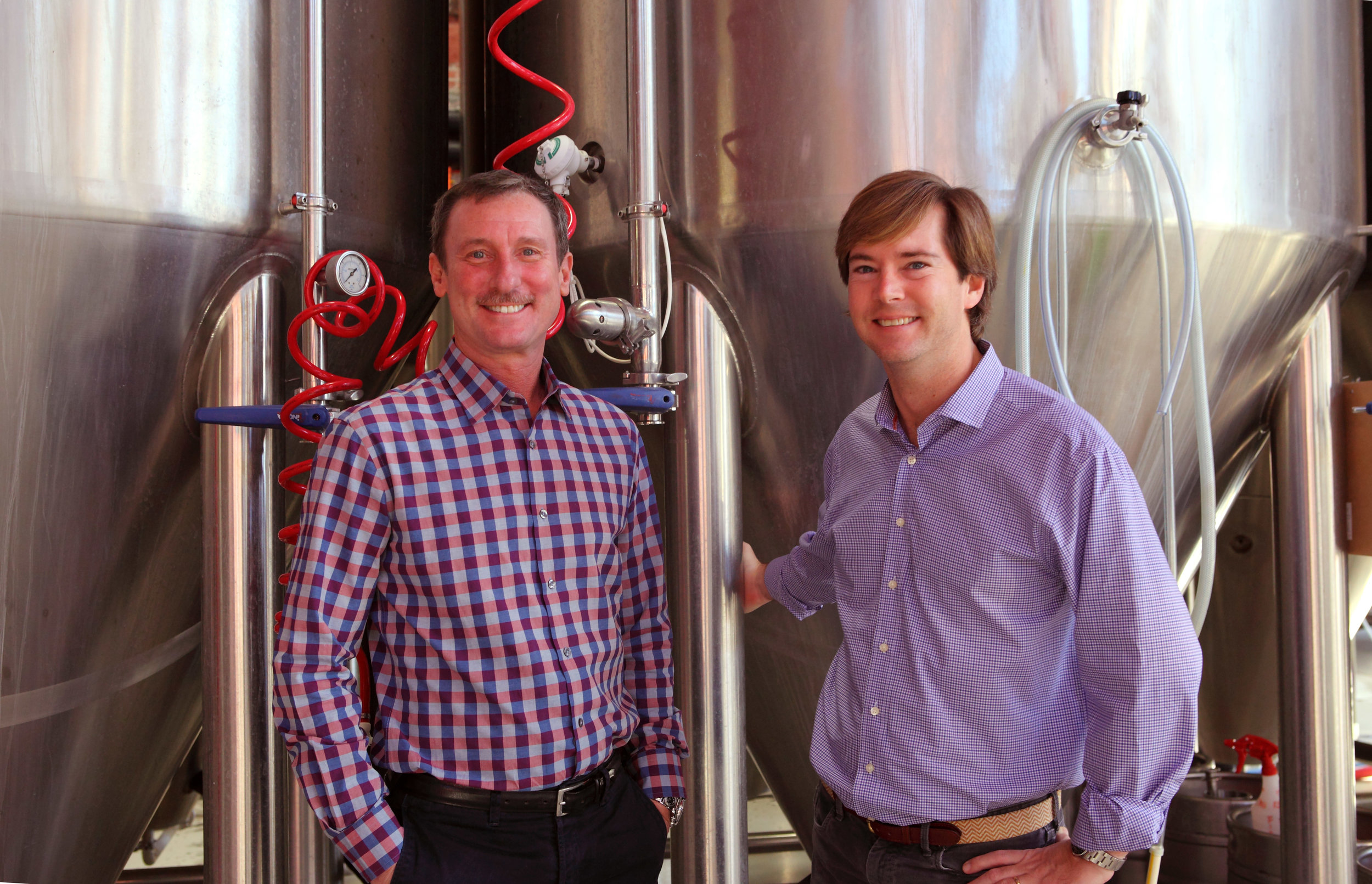 Stephen Hill, left, and Trent Mooring are the owners of Mother Earth Brewery, opening it in 2009. Hill was the recipient of the Esse Quam Videri Award by Visit North Carolina. Submitted photo