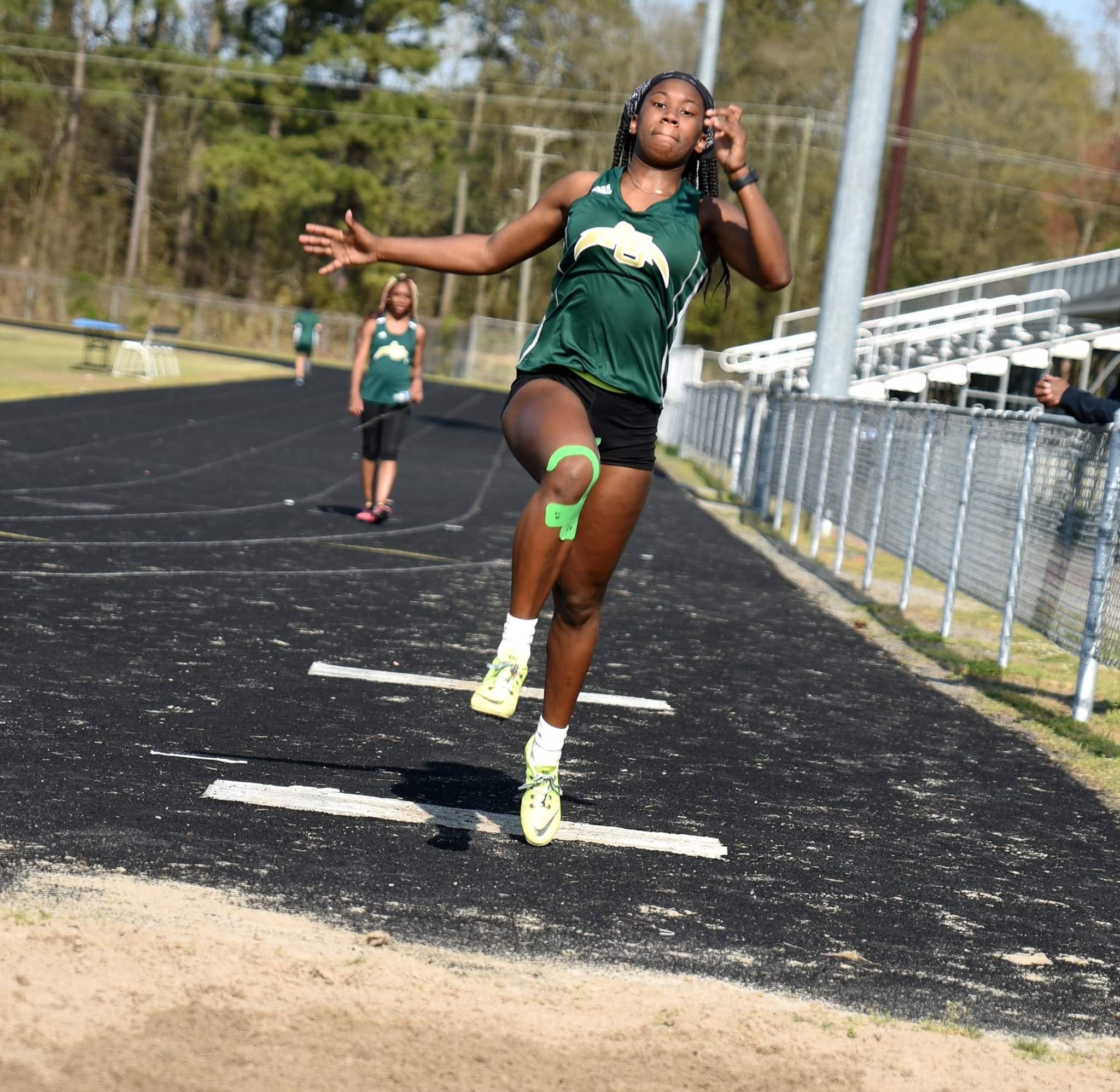 Ayden-Grifton's Alexia Bryant prepares for her jump in Thursday's conference track and field meet against Greene Central. Photo by William 'Bud' Hardy / Neuse News