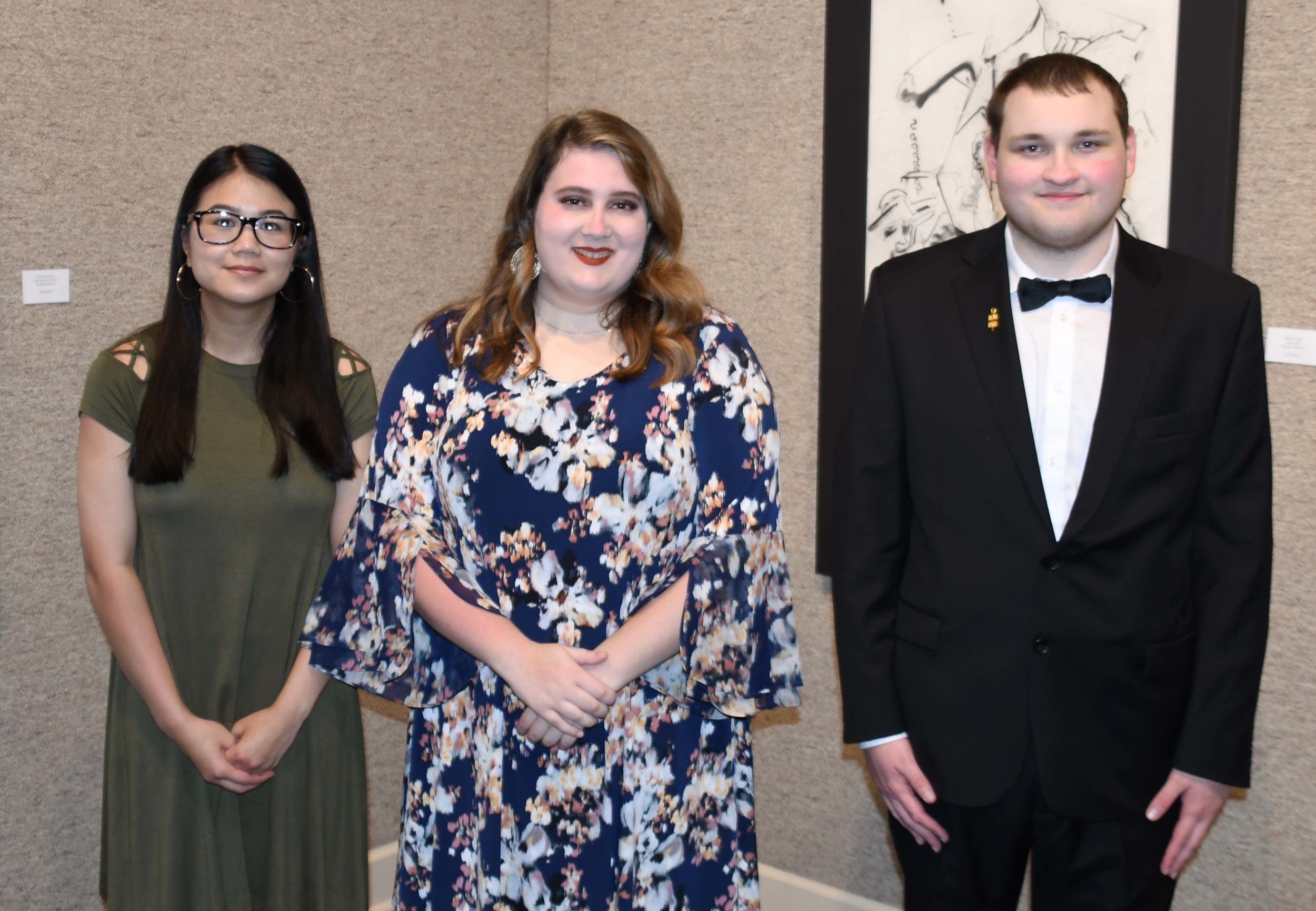 Officers Lenoir Community College Omicron Rho Chapter of Phi Theta Kappa officers, left to right, are Anna Van of Grifton, Vice President of Scholarship; Miranda Quinn of Kinston, President; and Stuart Giles of Kinston, Vice President of Service.