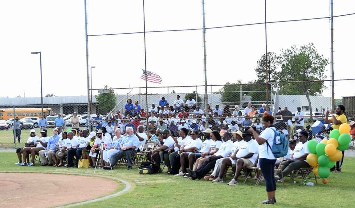 A crowd of several hundred people were on hand for Saturday's ceremony. Photo by William 'Bud' Hardy / Neuse News