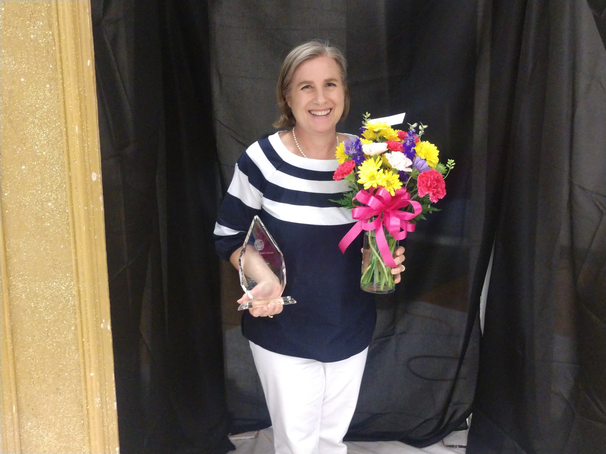 Comfort Elementary's Stella Downs was awarded with Principal of the Year honors during the Jones County School's End of Year Gala Wednesday. Photo by Junious Smith III / Neuse News