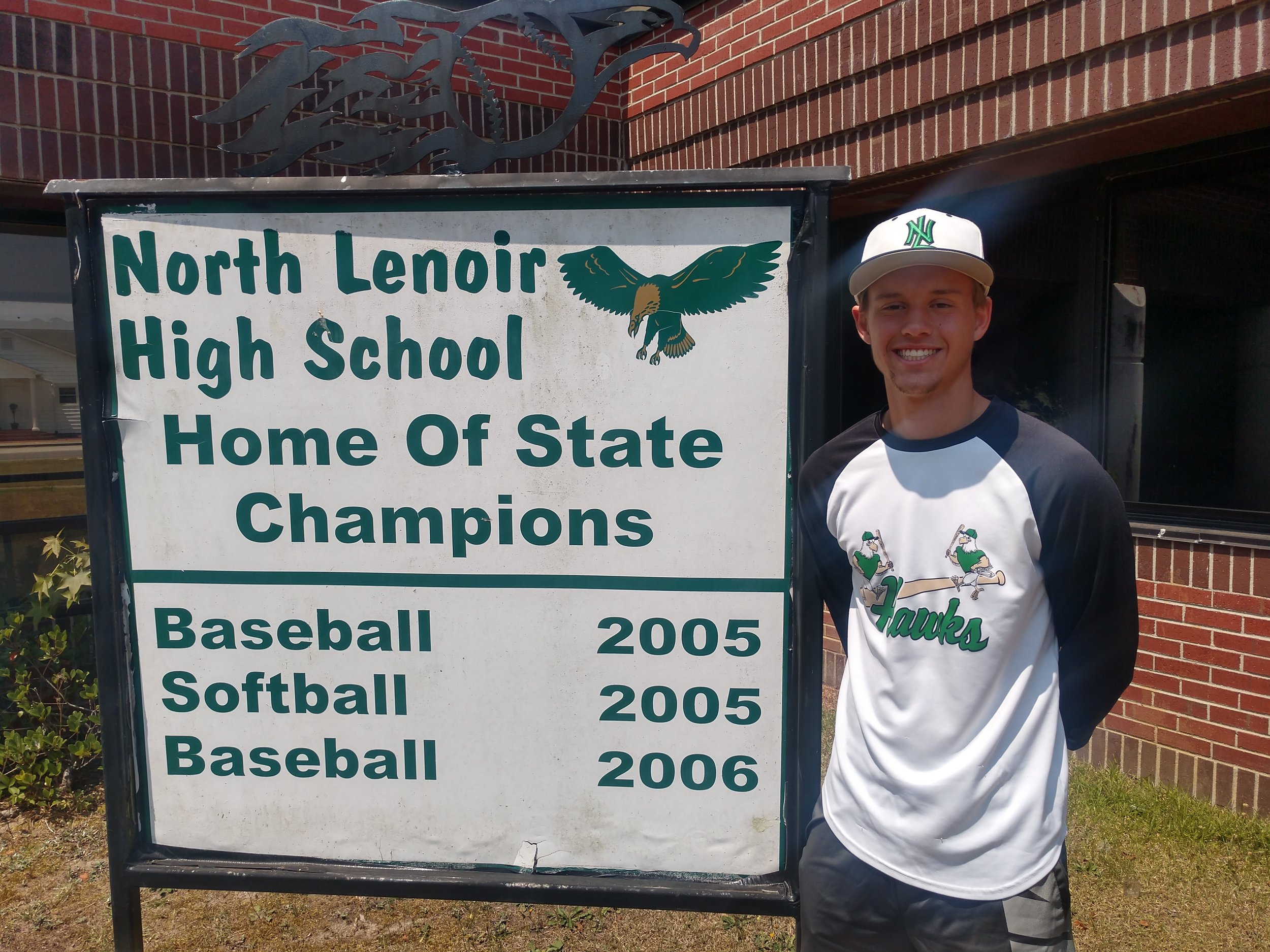 North Lenoir's Trevor Sears allowed just one walk all season and had a 6-1 record with a 1.12 ERA to take home Pitcher of the Year honors. Photo by Junious Smith III / Neuse News
