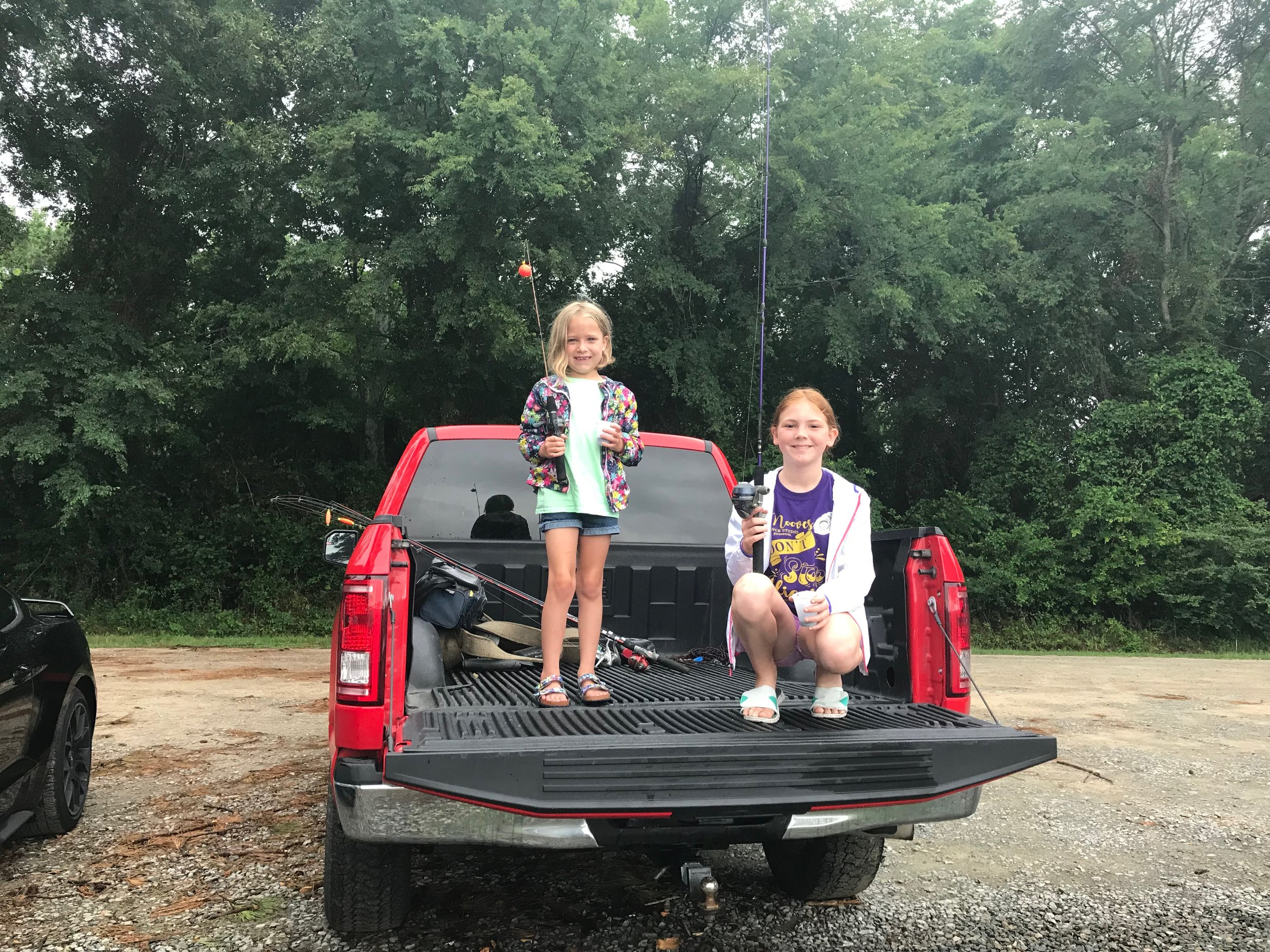 Natalie Hartley, 6, and Addison Jones, 10, had a great time. Photo by Kristy Bock / Neuse News