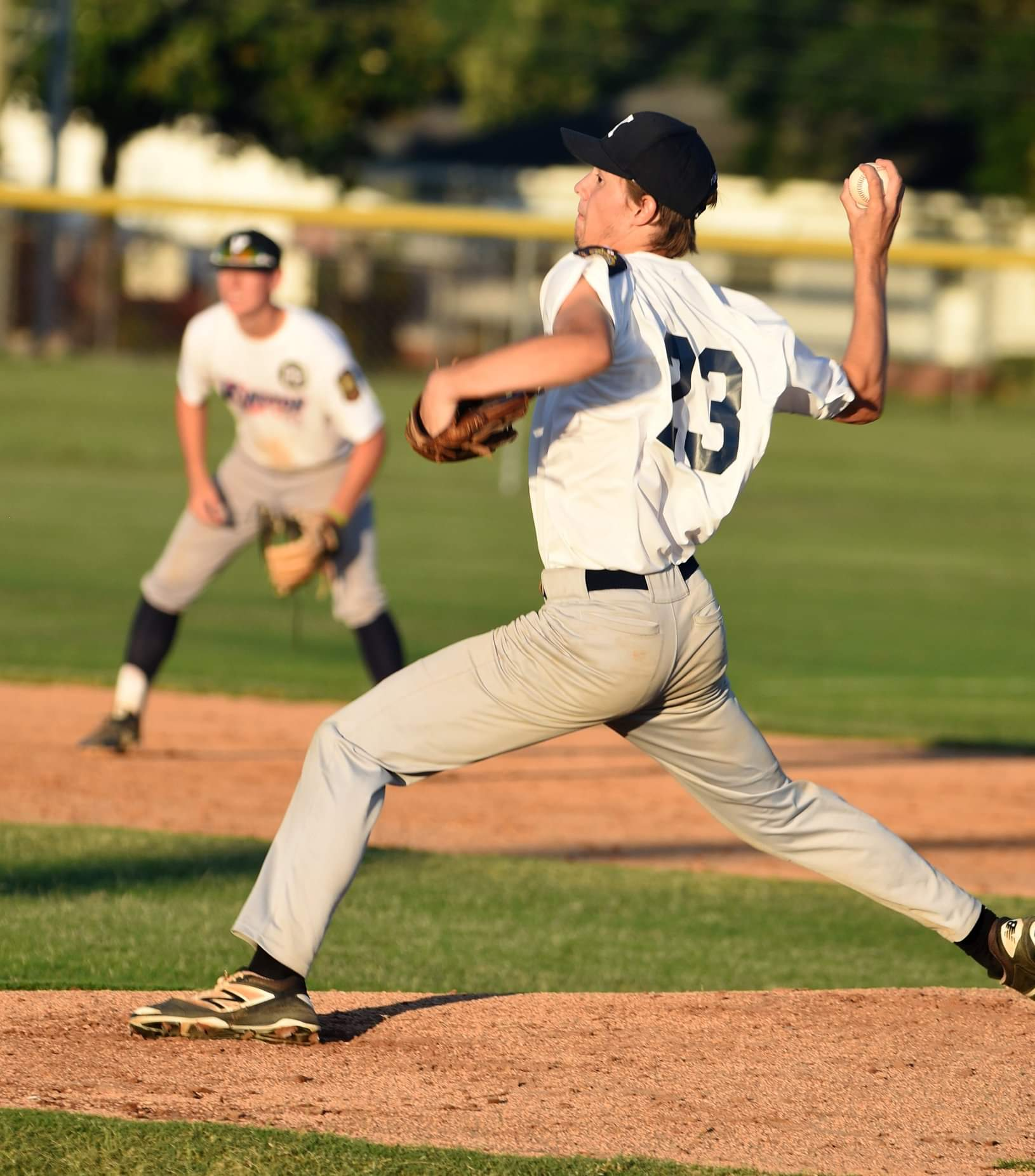 Kinston Post 43's Trevor Sears pitched a complete game as the team improved to 4-1 on the season. Photo by William 'Bud' Hardy / Neuse News
