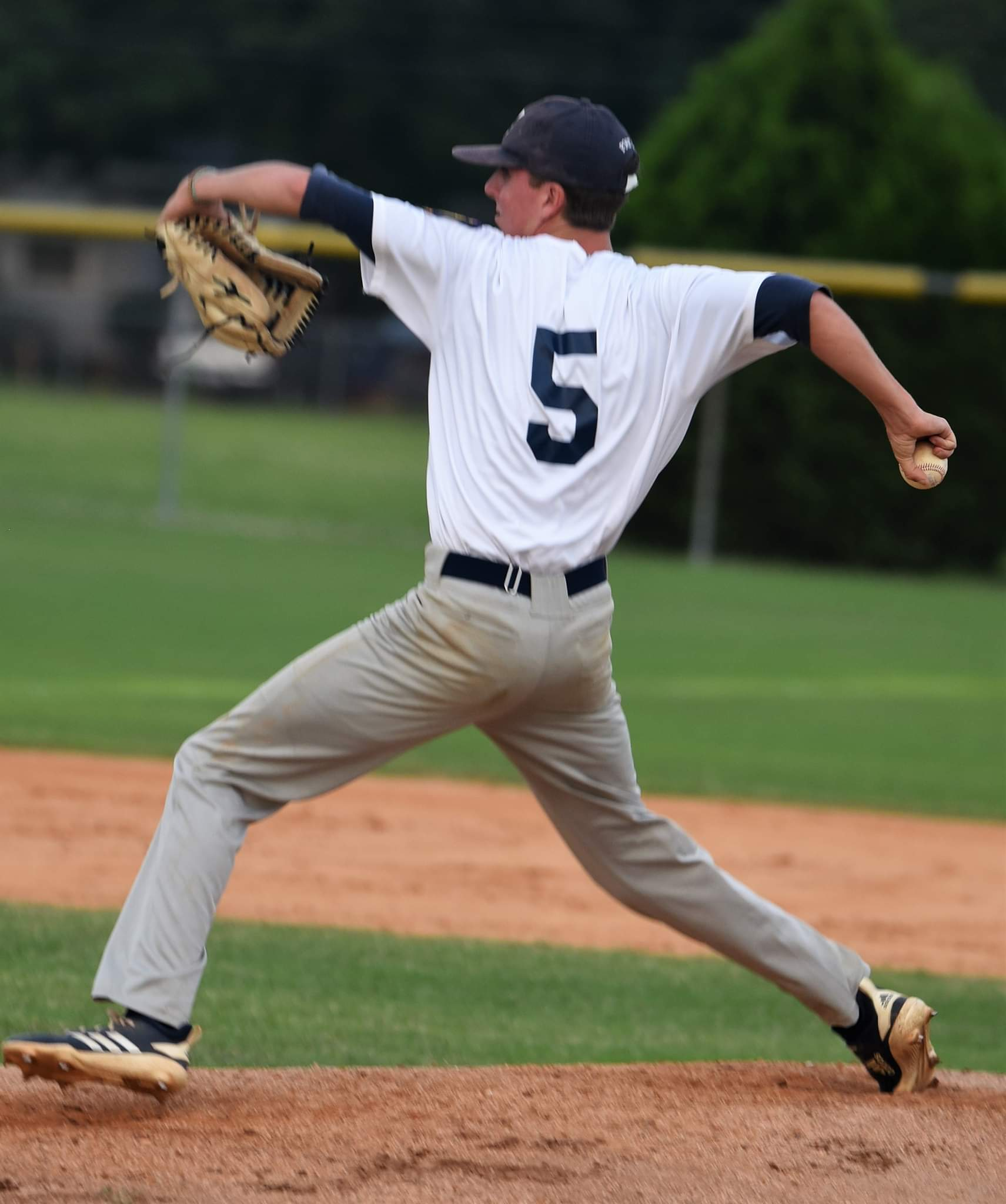 Kinston Post 43's Camden Noble started Thursday's game against Wayne County Post 11. Photo by William 'Bud' Hardy / Neuse News