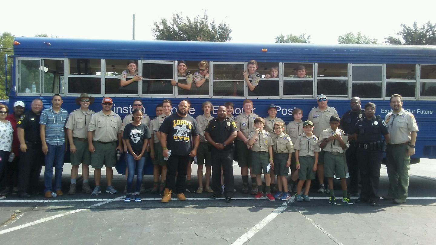 The Boy Scouts Troop 41, Police Explorers 1033, the Kinston Community Relations Team and the Kinston Police Department came together for a back-to-school drive at Fairfield Park to ensure each student in Lenoir County would have necessary supplies for the upcoming year. Kinston 41 Troop Scoutmaster Fernando Escabi-Mendez said it started with a conversation between one of his troop members and Kinston Police Chief Alonzo Jaynes. Submitted photo.
