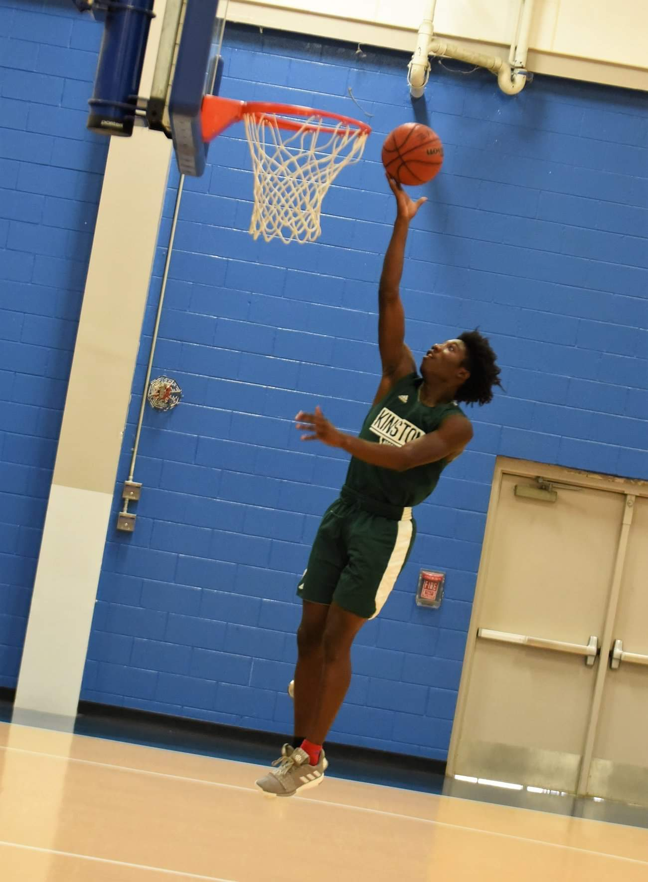 Kinston's Will London goes up for a basket against Wilmington Laney Saturday. Photo by William 'Bud' Hardy / Neuse News