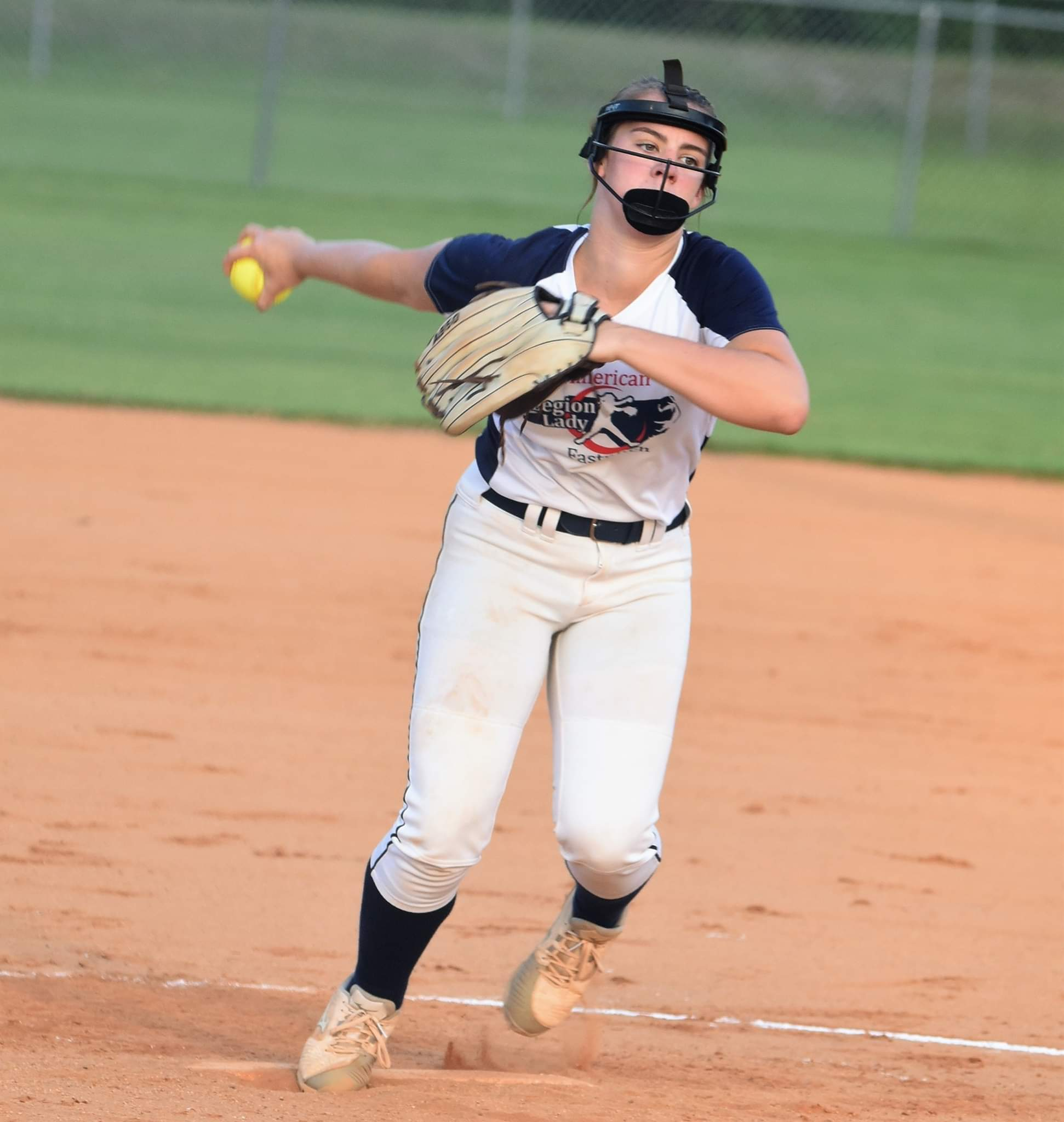 Kinston Post 43's Logan Lucas looks to help the team continue its strong start in the inaugural softball season, which continues today. Kinston Post 43 is 5-1 heading into a doubleheader with Wilmington Post 545. Photo by William 'Bud' Hardy / Neuse News