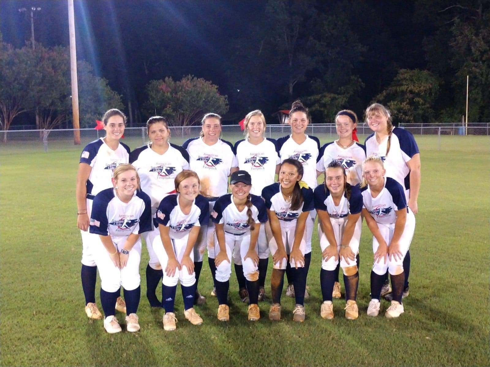 Kinston Post 43's softball team improved to 7-1 this season after a pair of victories against Wilmington Post 545 Tuesday. Submitted photo