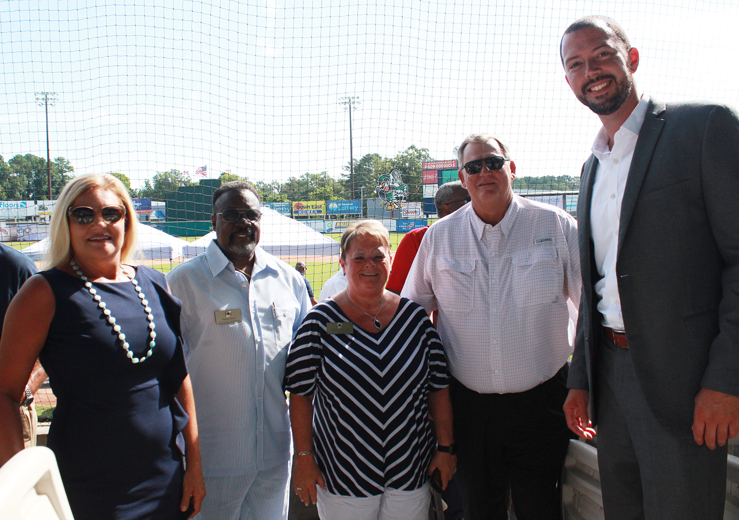 From left, Lenoir County Clerk of Court Dawn Stroud, Lenoir County Commissioner Preston Harris, Lenoir County Commissioners Chair Linda Rouse Sutton, Lenoir County Commissioner Craig Hill and Lenoir County Manager Michael James