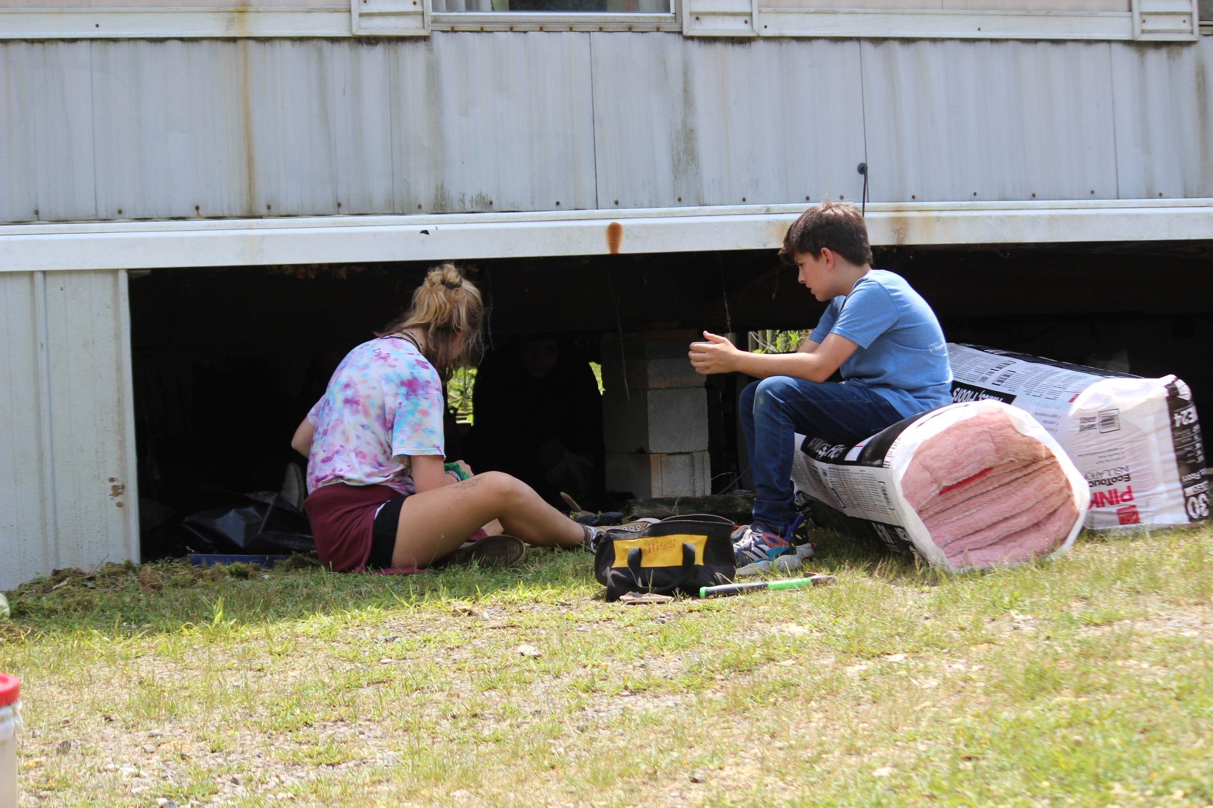 Students working on Glory Ridge