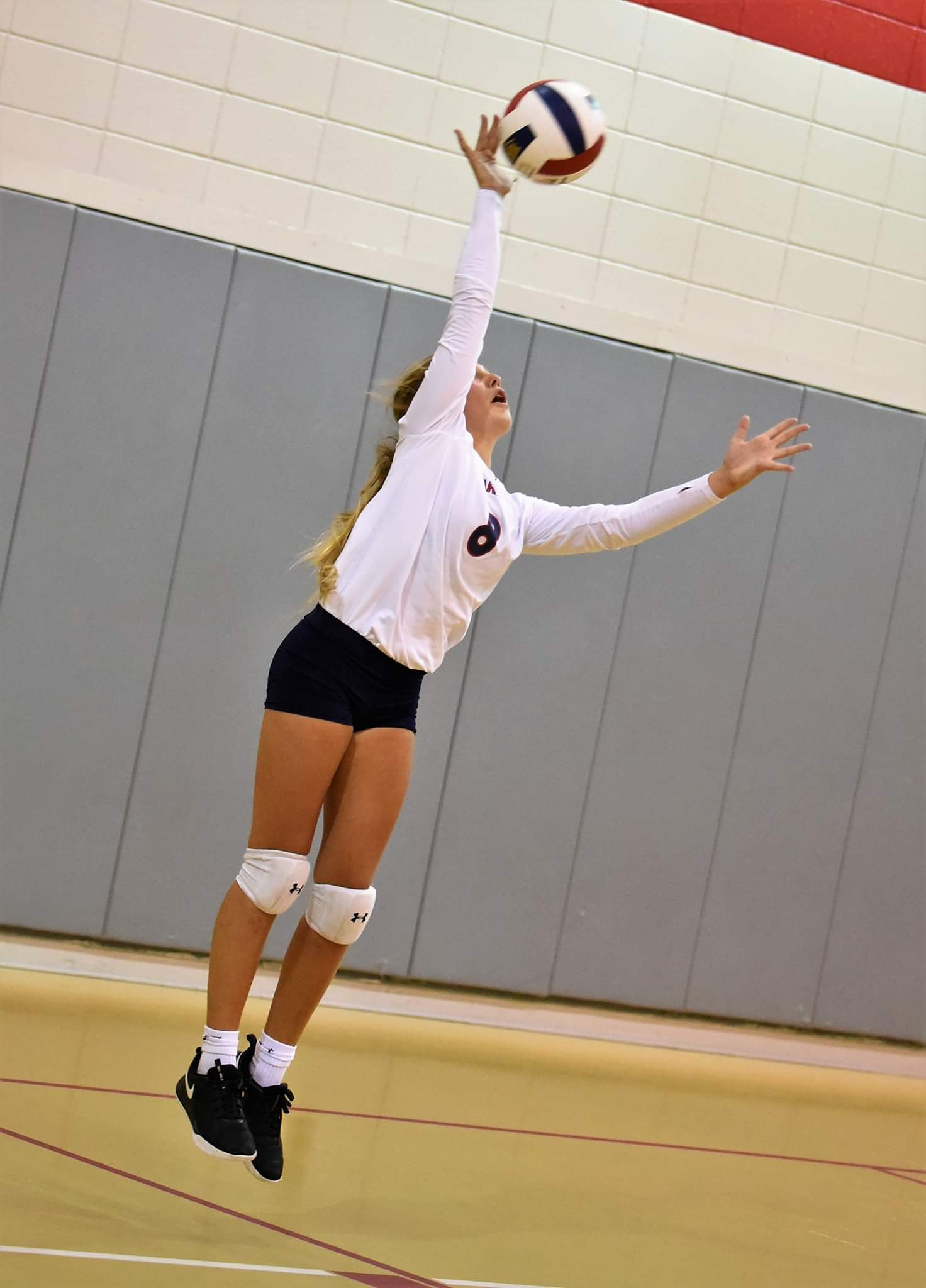 Lauren Richardson had nine service aces, including six in the third set, in Wednesday's match against Thales Academy. Photo by William 'Bud' Hardy / Neuse News