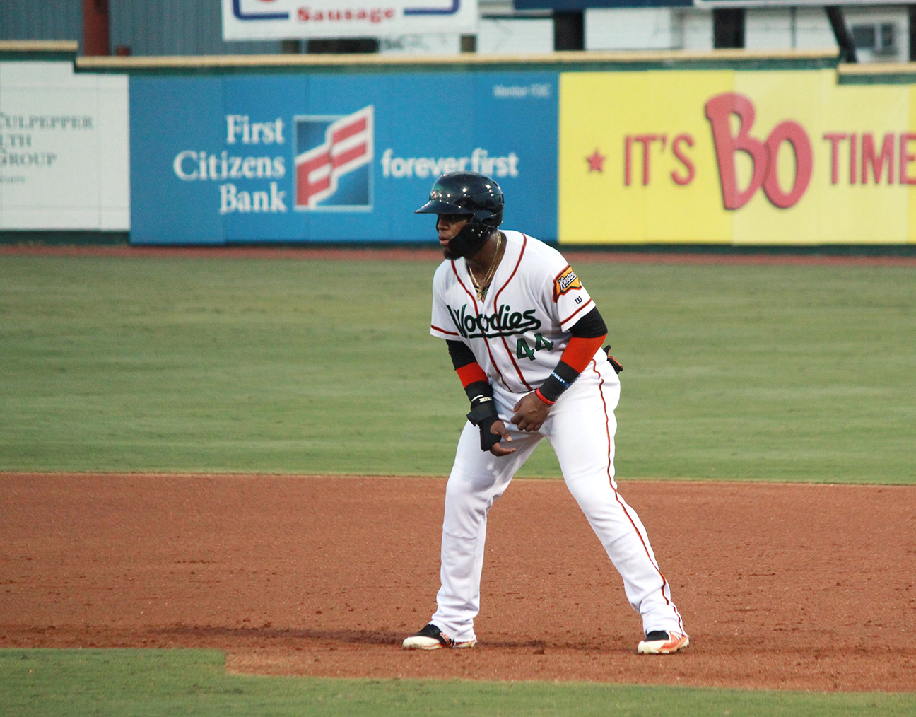 Yanio Perez has emerged as not only a fan favorite at Historic Grainger Stadium but as one of the team leaders. Photo by Linda Whittington / Neuse News