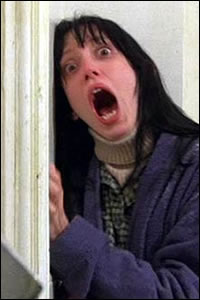 Shelley Duvall in a scene from Stanley Kubrick's The Shining