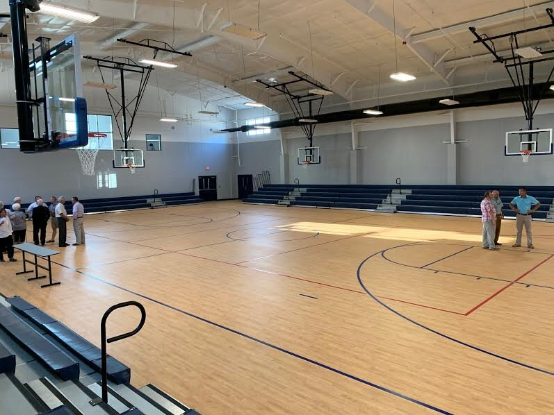 The gymnasium inside the Greene County Wellness Center can also be used as an auditorium for concerts. Photo by Rudy Coggins / Neuse News