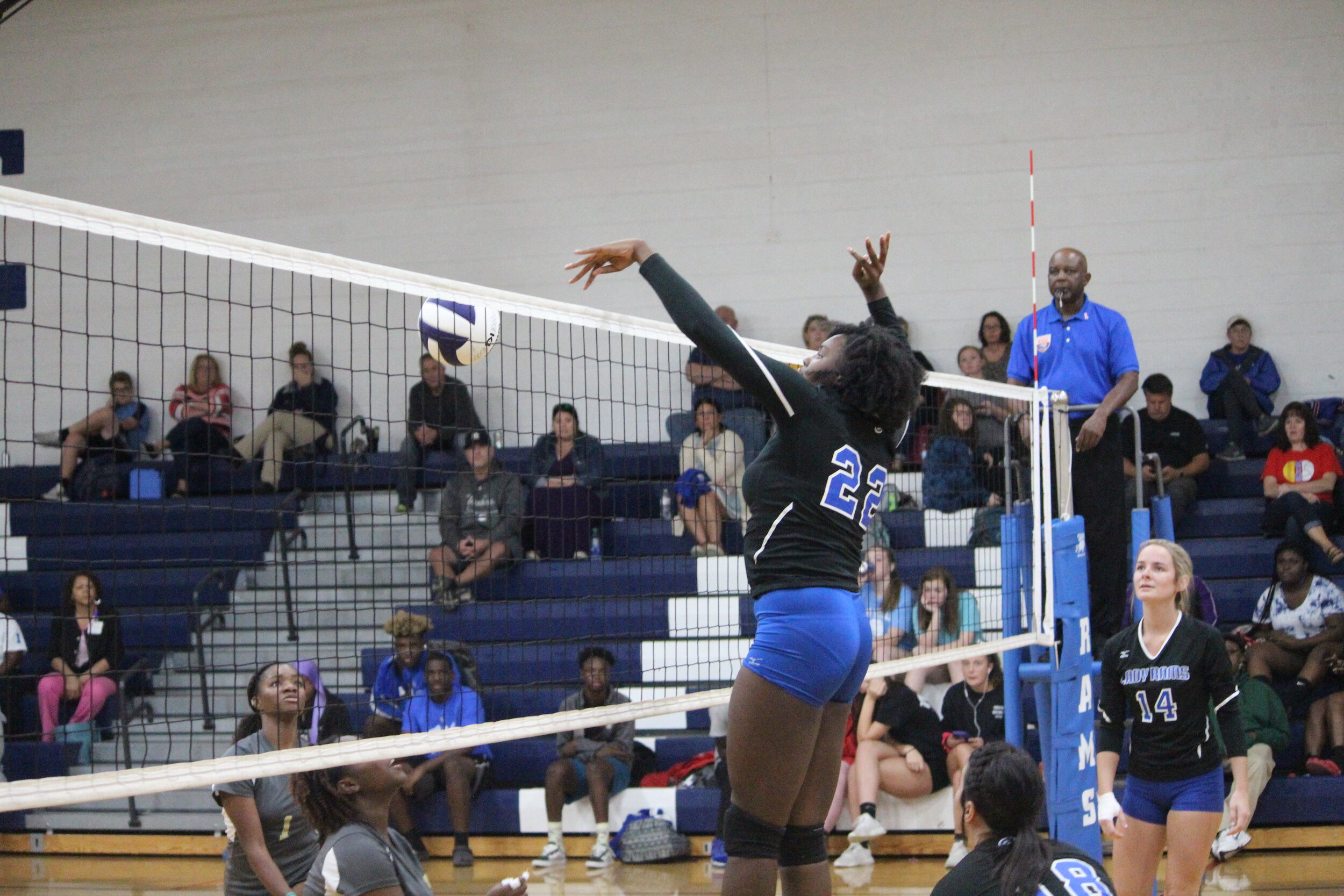 Greene Central sophomore Angel Hill played a big role in the Rams three-set win over Kinston on Thursday. Photo by Laieke Abebe / Neuse News