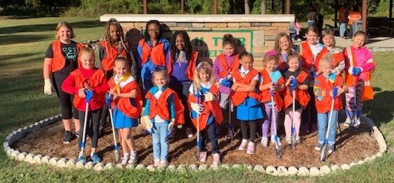 Girl Scouts from various troops around Lenoir County including Troop 612, Troop 1357, Troop 2612, Troop 3612, and Troop 4182. Picture courtesy of Stephanie Towne.