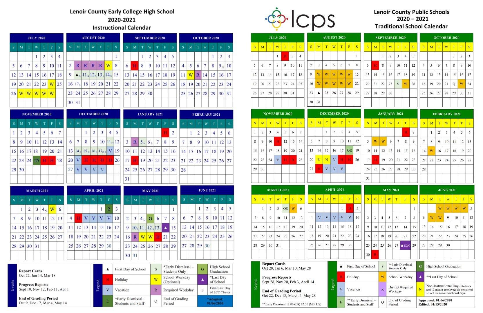 Howard County Public Schools Calendar 2021 Teachers' choice for 2020 21 calendar approved by board — Neuse News