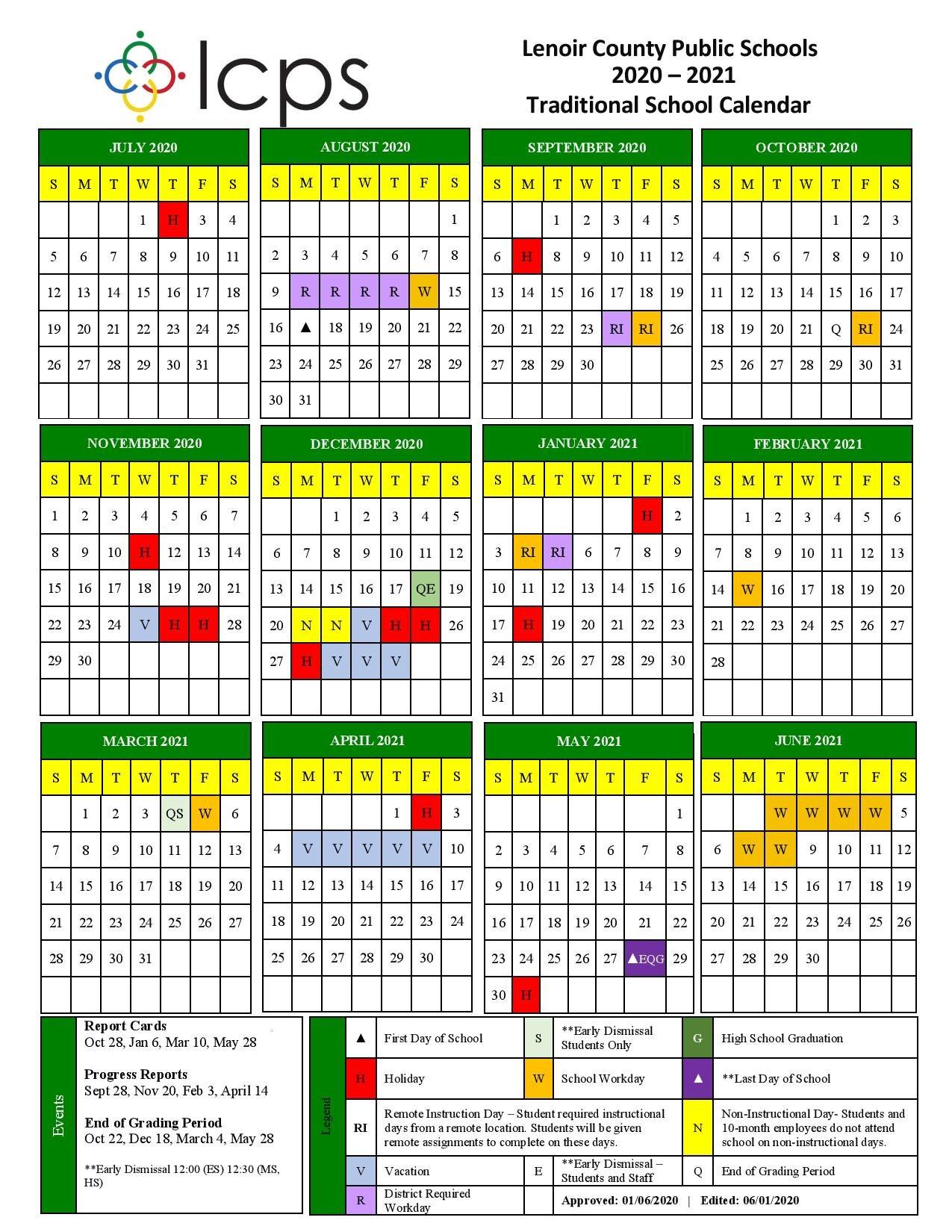 Howard County Public Schools Calendar 2021 Lenoir County Public Schools releases the revised 2020 2021 school