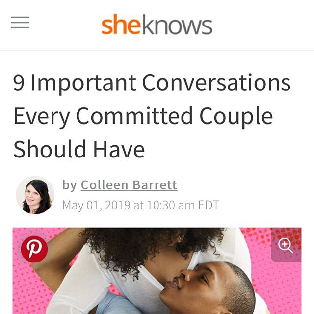 I recently contributed to another article focused on important conversations for committed couples. Let me know what you think! @sheknows 👇🏻 https://www.sheknows.com/love-and-sex/articles/2015528/conversations-new-couples-should-have/