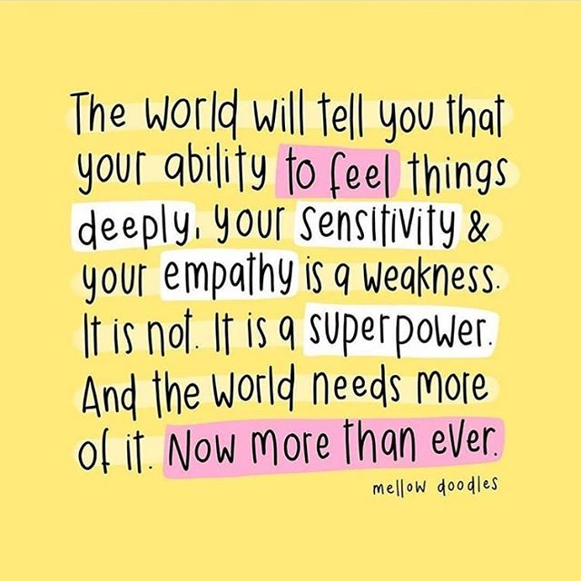 Some words of truth and wisdom for my fellow HSPs (Highly Sensitive Persons) and the people who love them ❤️ ✨@mellow.doodles ✨@sweatpantsandcoffee ✨@highlysensitiverefuge