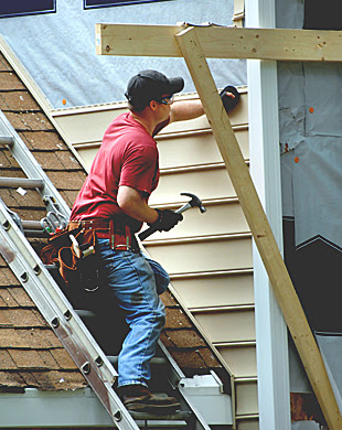 - If you're thinking about updating the look of your new home, rely on our siding experts to help you. Get any type of siding installed or repaired. Contact us today to get your FREE estimate.