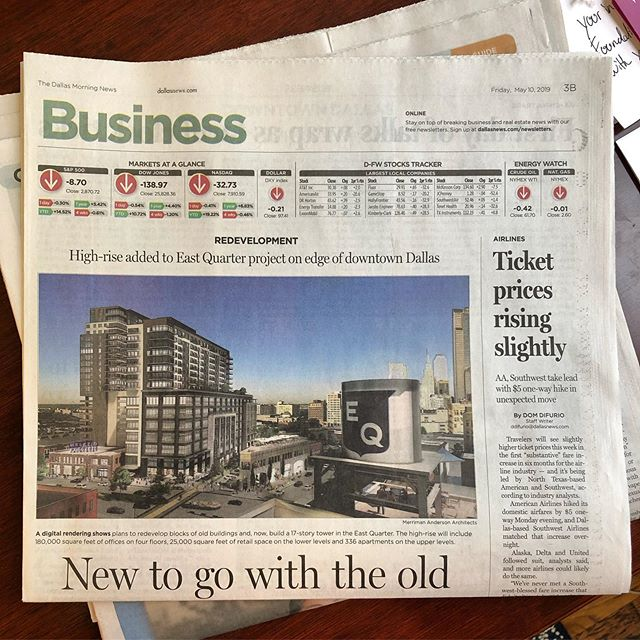 EXTRA! EXTRA! Who wants to LIVE in E.Q.?!?! Read all about it! In this morning's @dallasnews