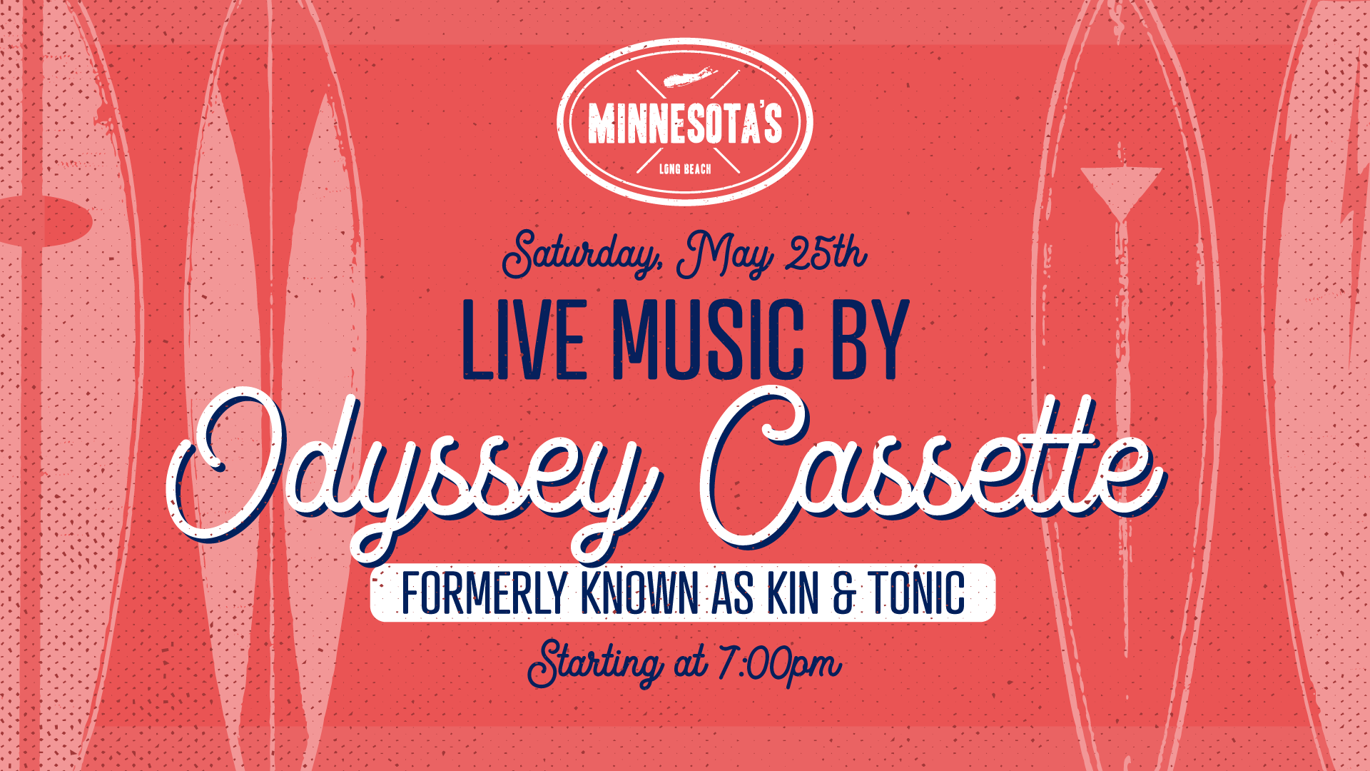 flyer for live music by Odyssey Casette at minnesotas on may 25th at 7pm
