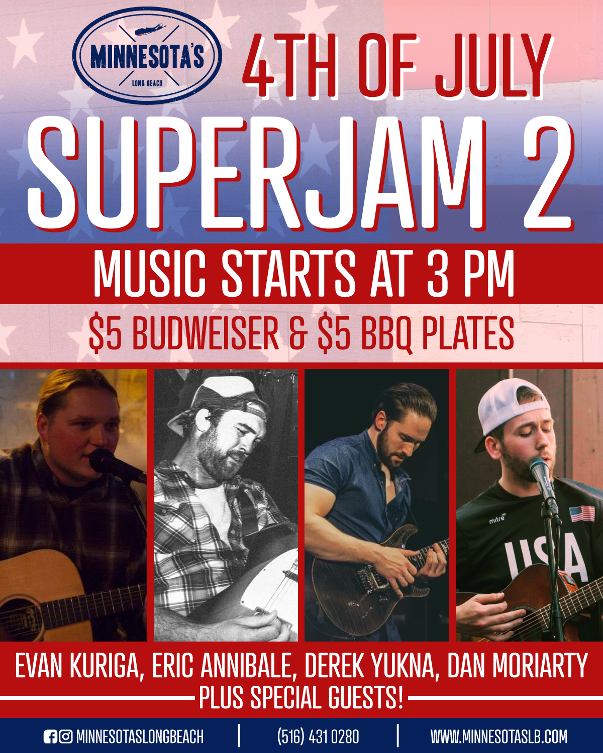 Superjam 2 with live music from Evan Kuriga, Eric Annibale, Derek Yukna, Dan Moriarty, and more on the 4th of July