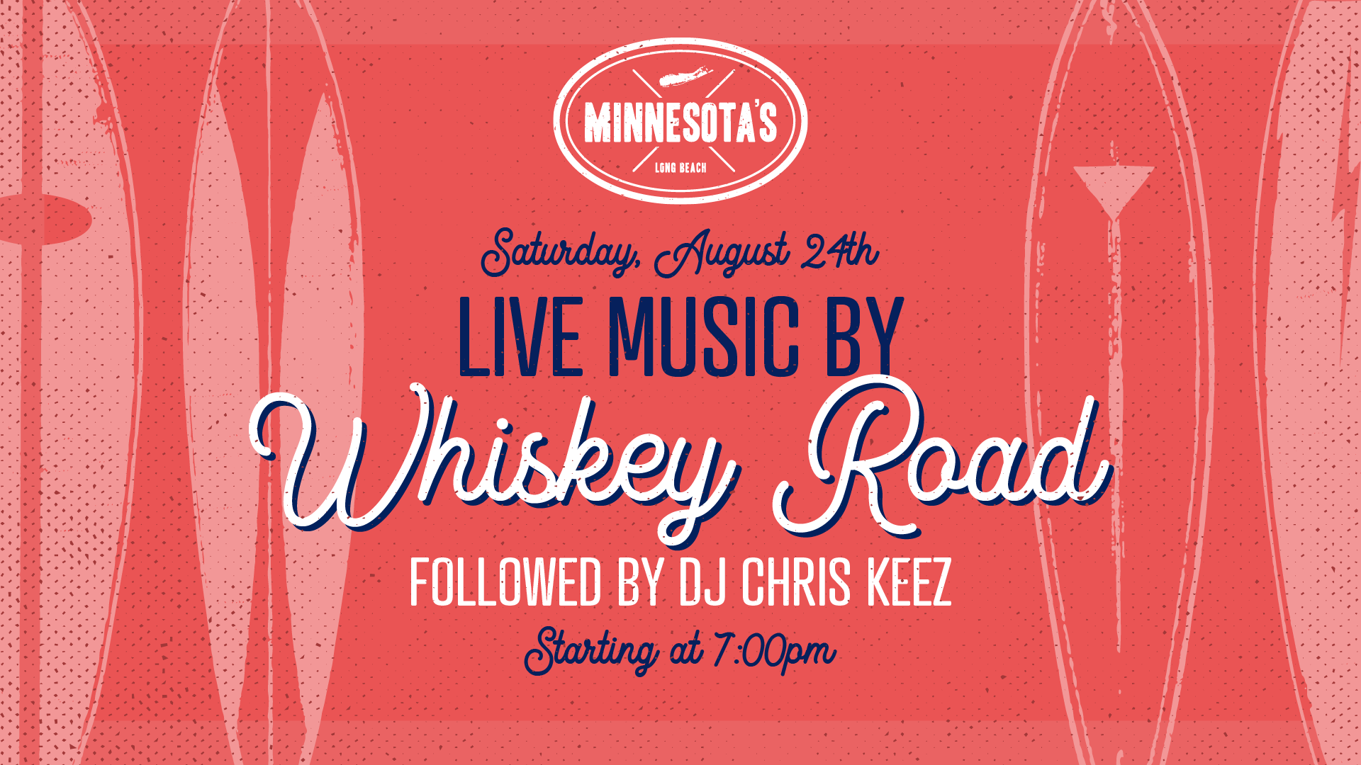 flyer for live music by como brother followed by dj chris keez at minnesotas on august 24th at 7pm