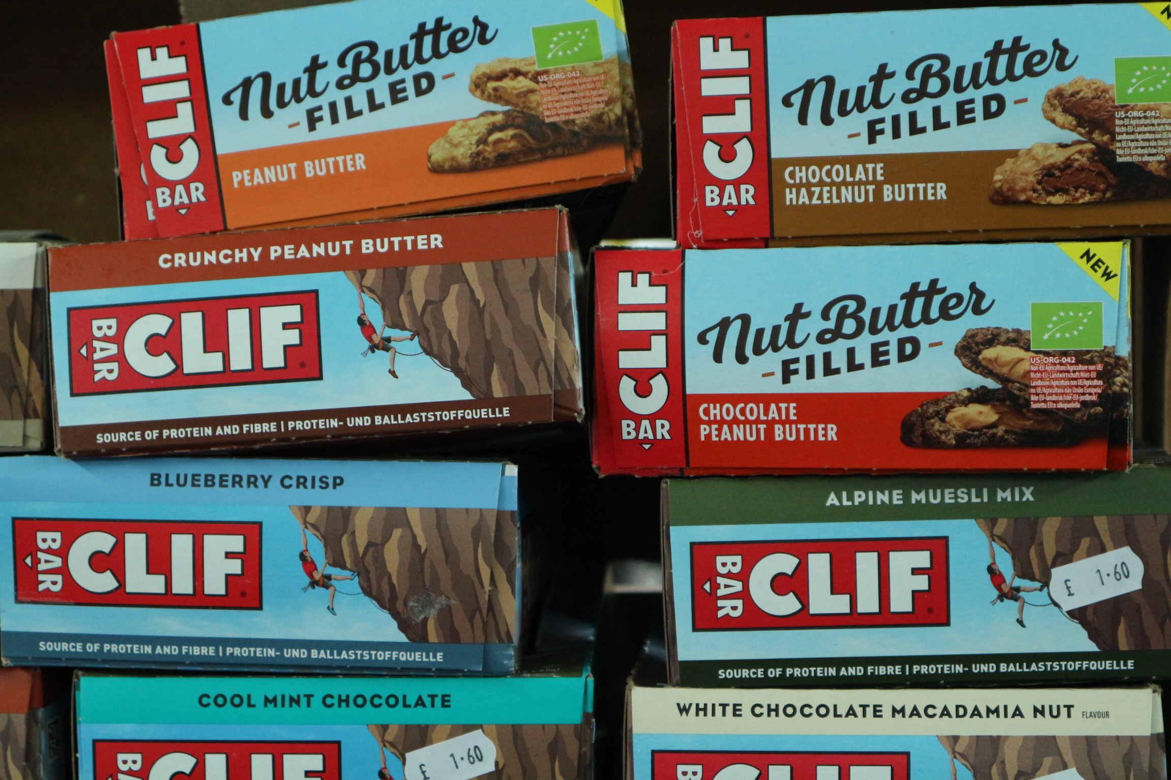nut butter filled Clif bars