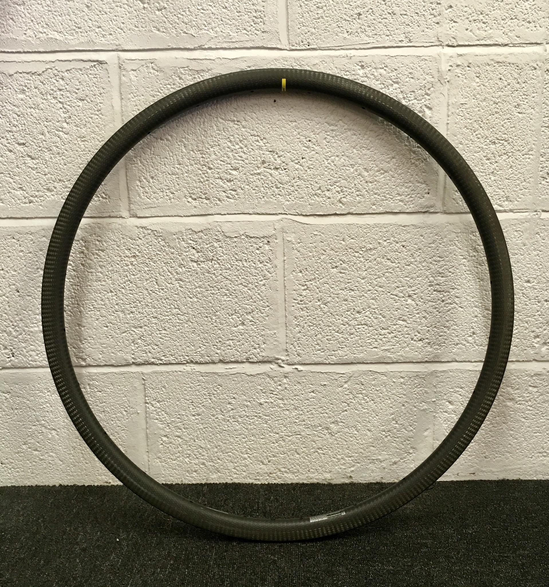 Mavic Open PRO Carbon ( used in the Ksyrium pro Carbon sl wheelset)  Rim weight 410g  Rim height 25mm  Cost £545 each rim