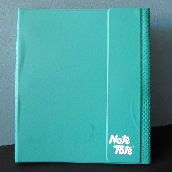 It was hard to find a pic of a vintage Note Tote binder in purple. I also just learned this brand still exists!