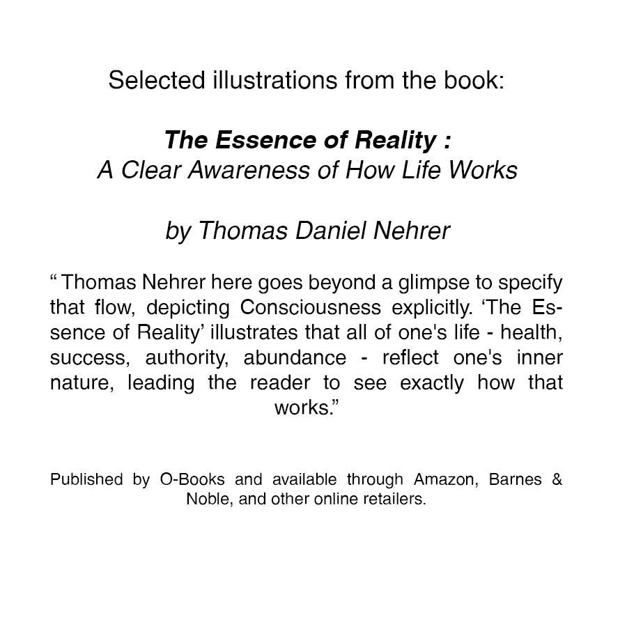 The Essence of Reality : A Clear Awareness of How Life Works  by Thomas Daniel Nehrer  Published by O-Books and available through  Amazon ,  Barnes & Noble , and other online retailers.