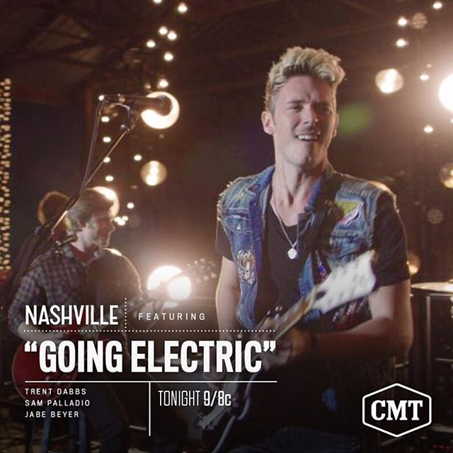 Love this song that @trentdabbs wrote with @sampalladio & @jabenation for @nashvillecmt #goingelectric 🤘🏼⚡️ #weloveyougunnar