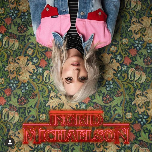 "Loving this new @ingridmichaelson album inspired by #StrangerThings 💥 Congrats @casoncooley @ @the_katie_herzig on your writing & production on ""Hey Kid"" ""Mother"" ""Take Me Home"" and production on ""Christmas Lights"" #StrangerSongs"