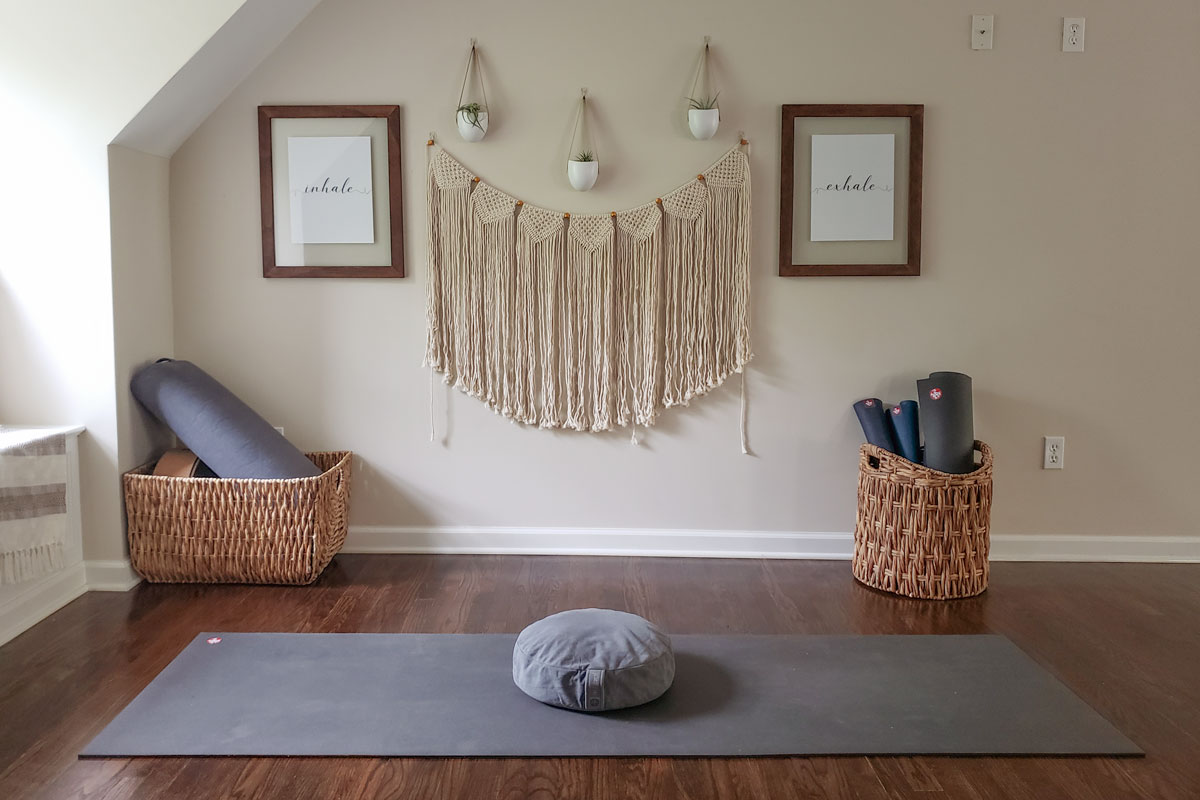 Get creative and make your yoga space your own