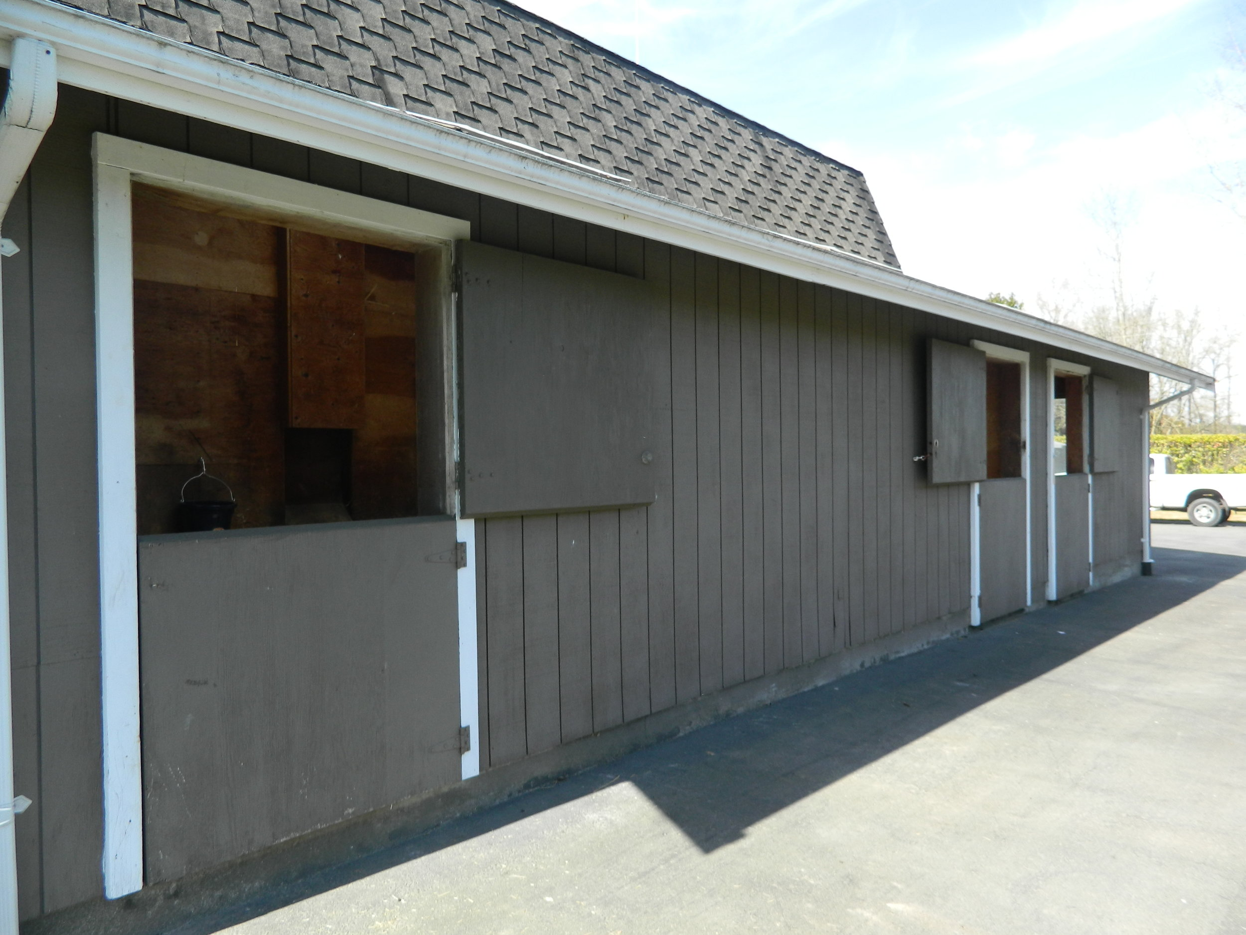 - The 5-stall barn