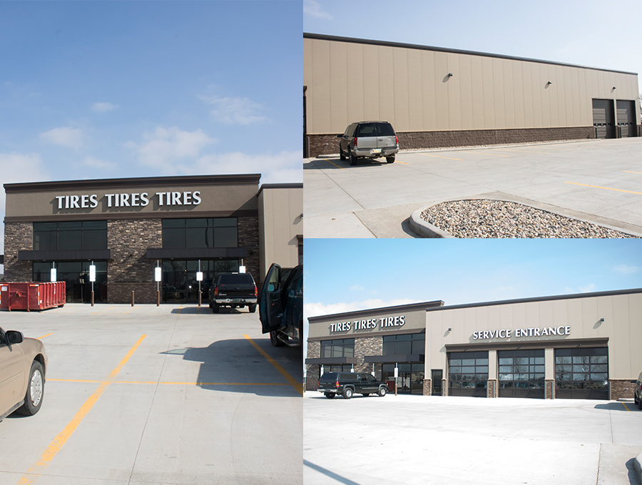 Tires Tires Tires - New Westside locationConcrete and Building Design package by RaecoFlexiable design personalized for client
