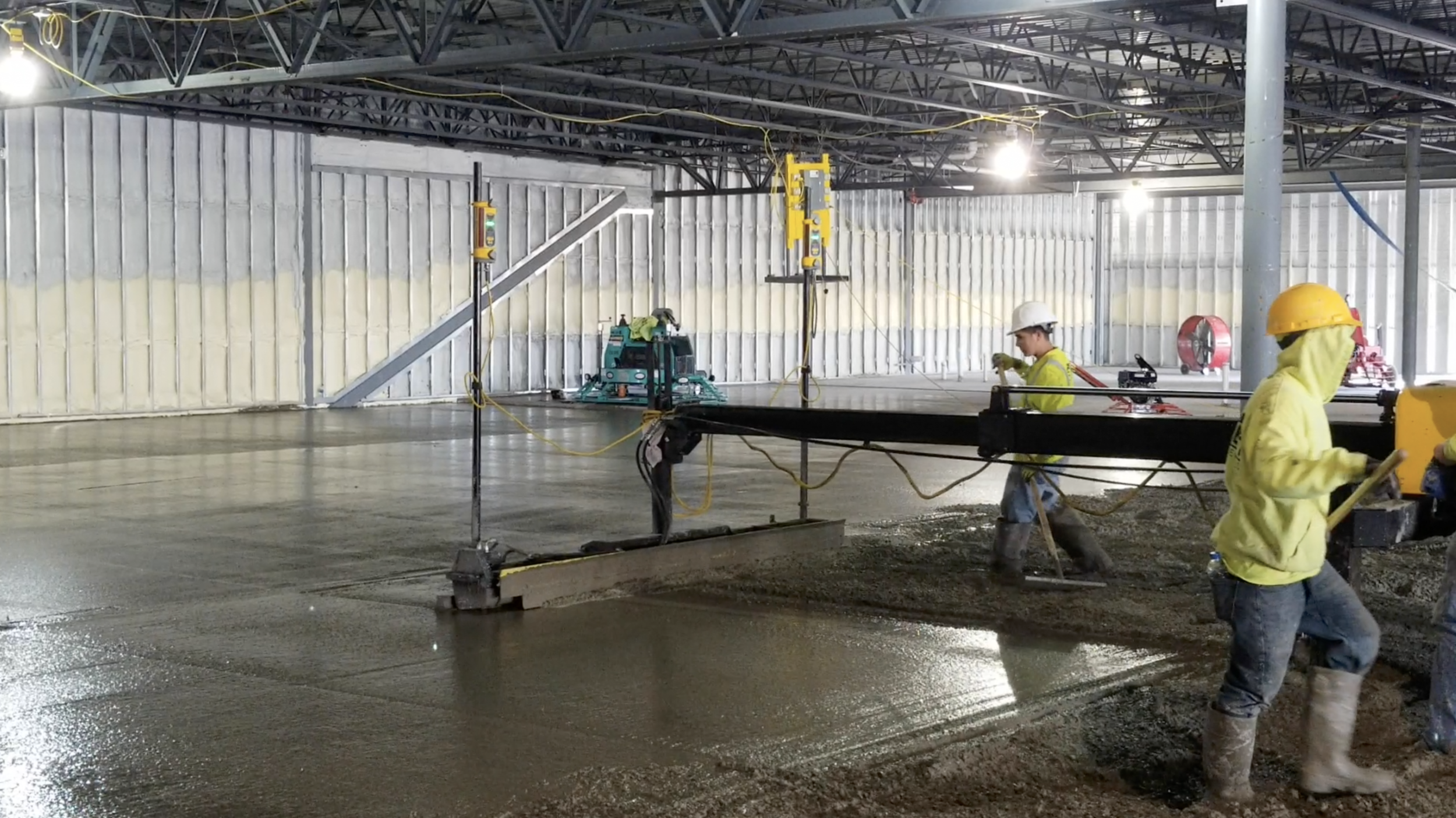 With a laser screed we can work faster with less labor, saving you money.